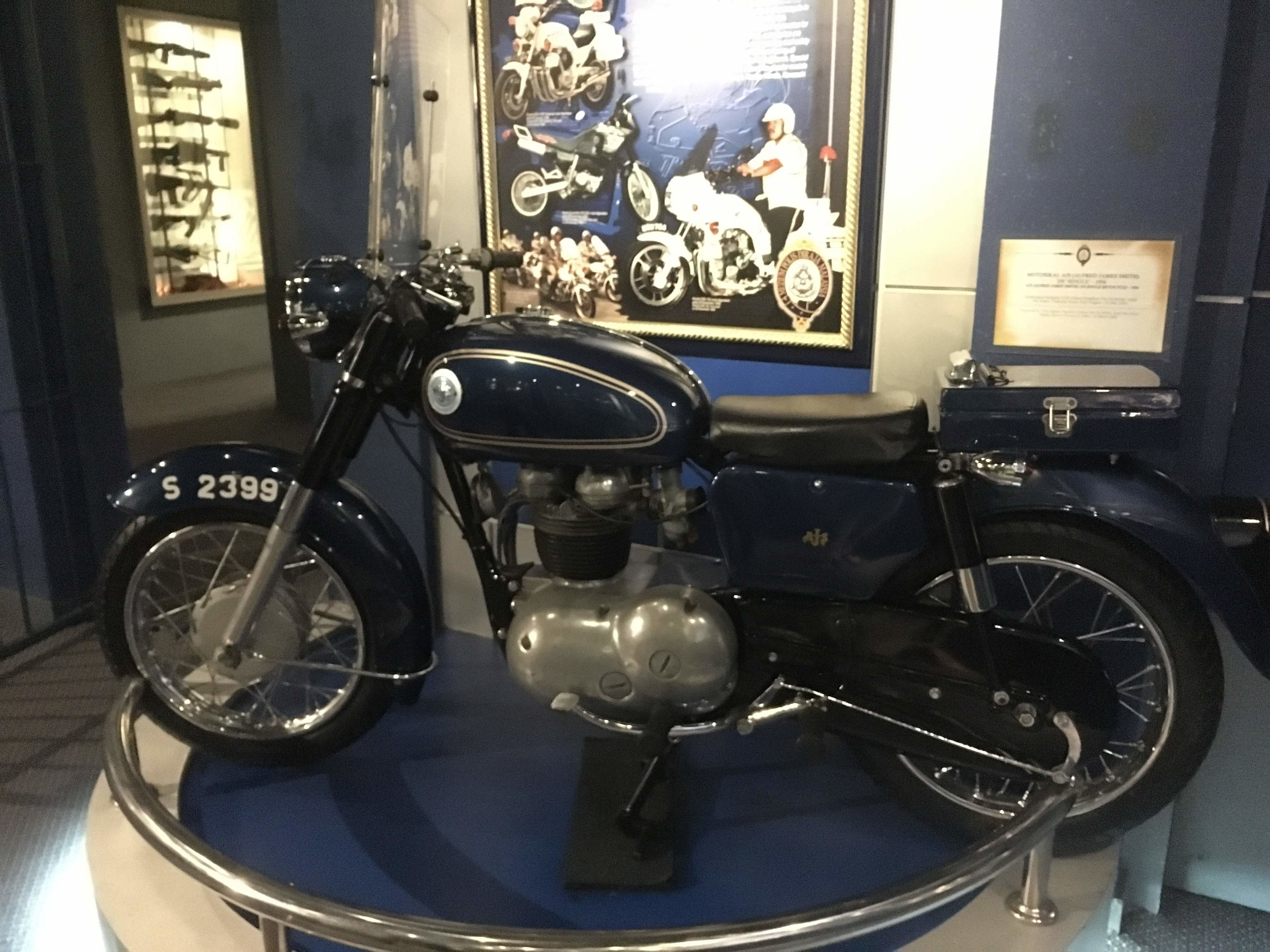 historical motorbike for the Malaysian Police