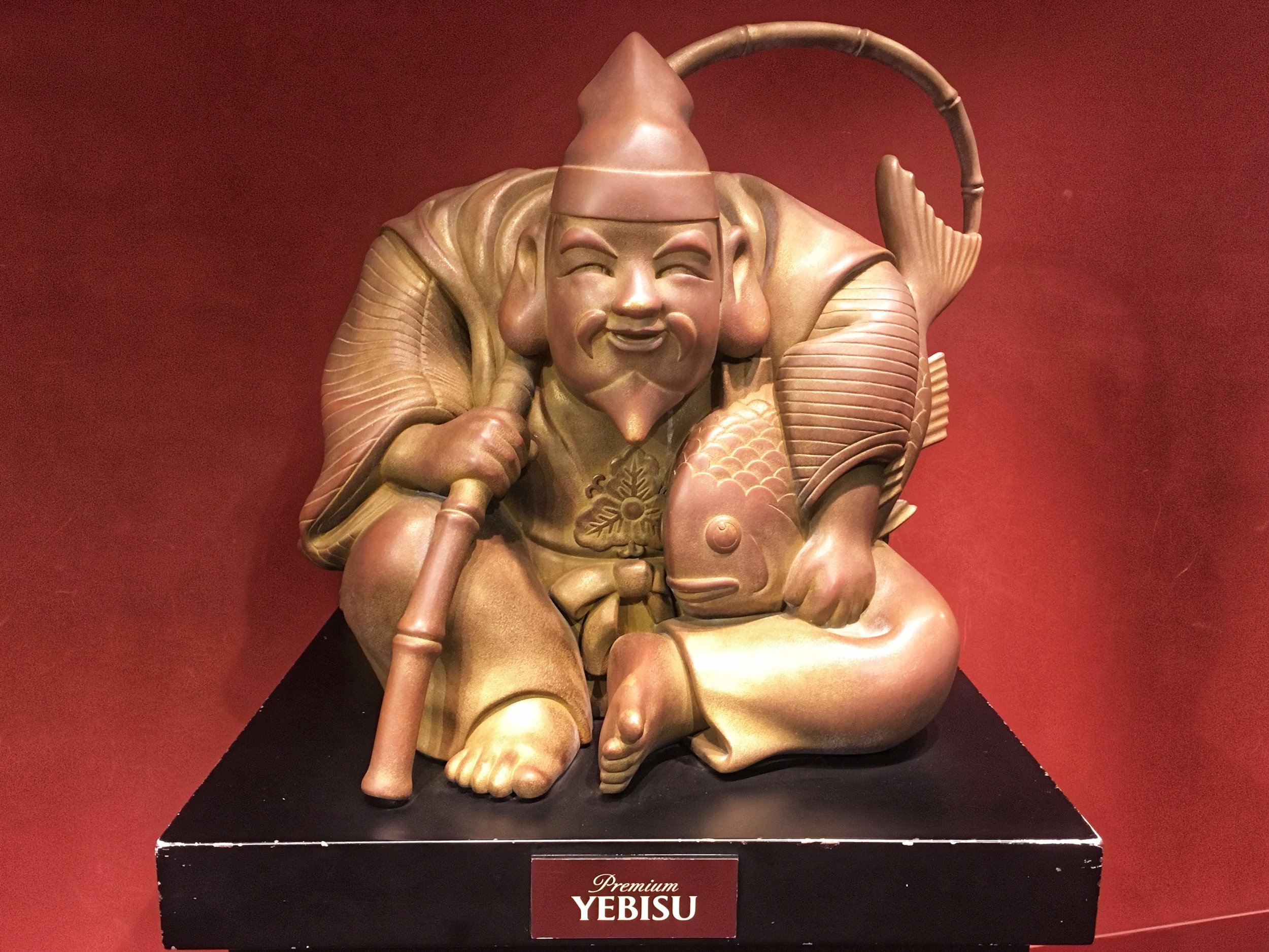 Yebisu, the Japanese God of Luck and mascot of Yebisu Beer