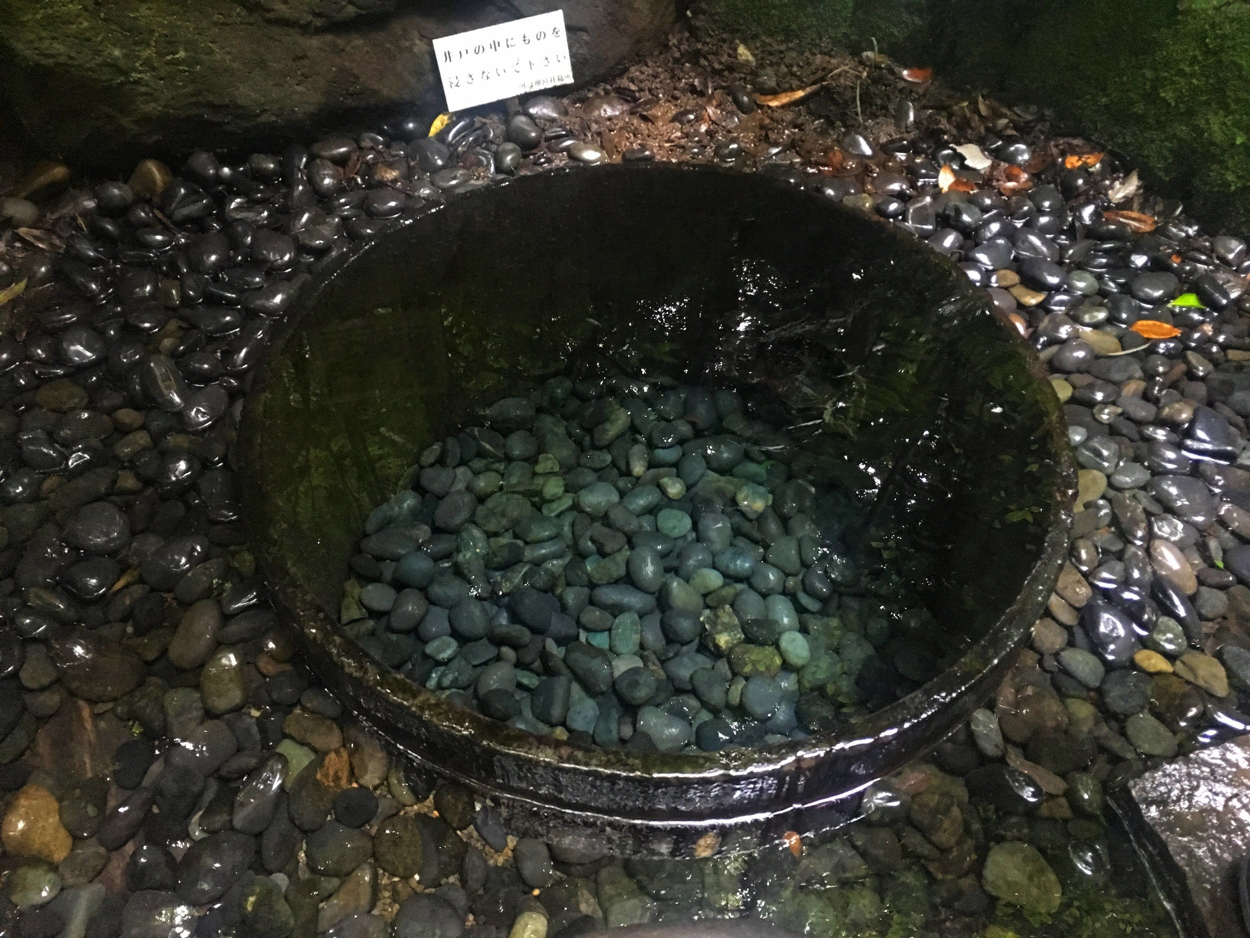 the magical Kiyomasa's Well is located within the Inner Garden at the Meiji Shrine
