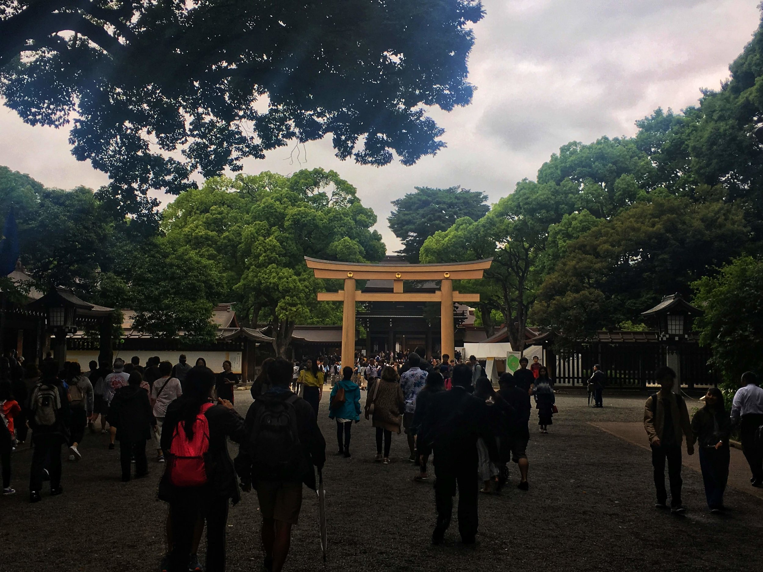 the main shrine at Meiji-jingu