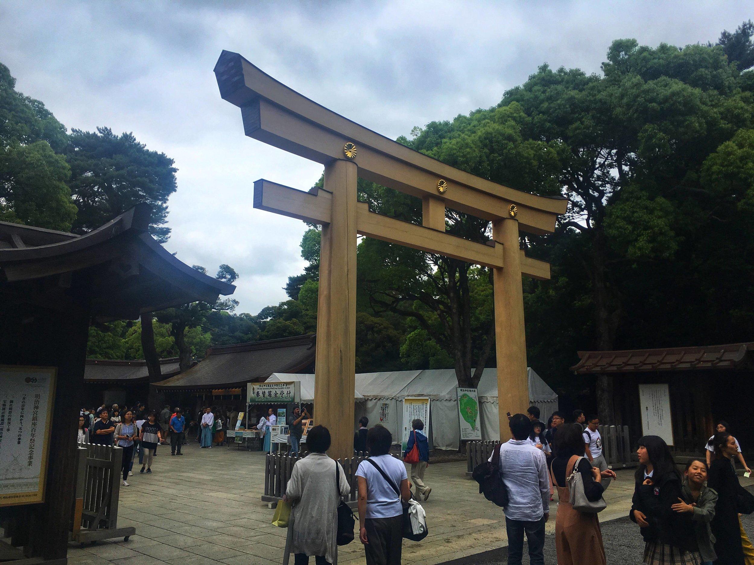 Meiji Imperial Shrine is always popular