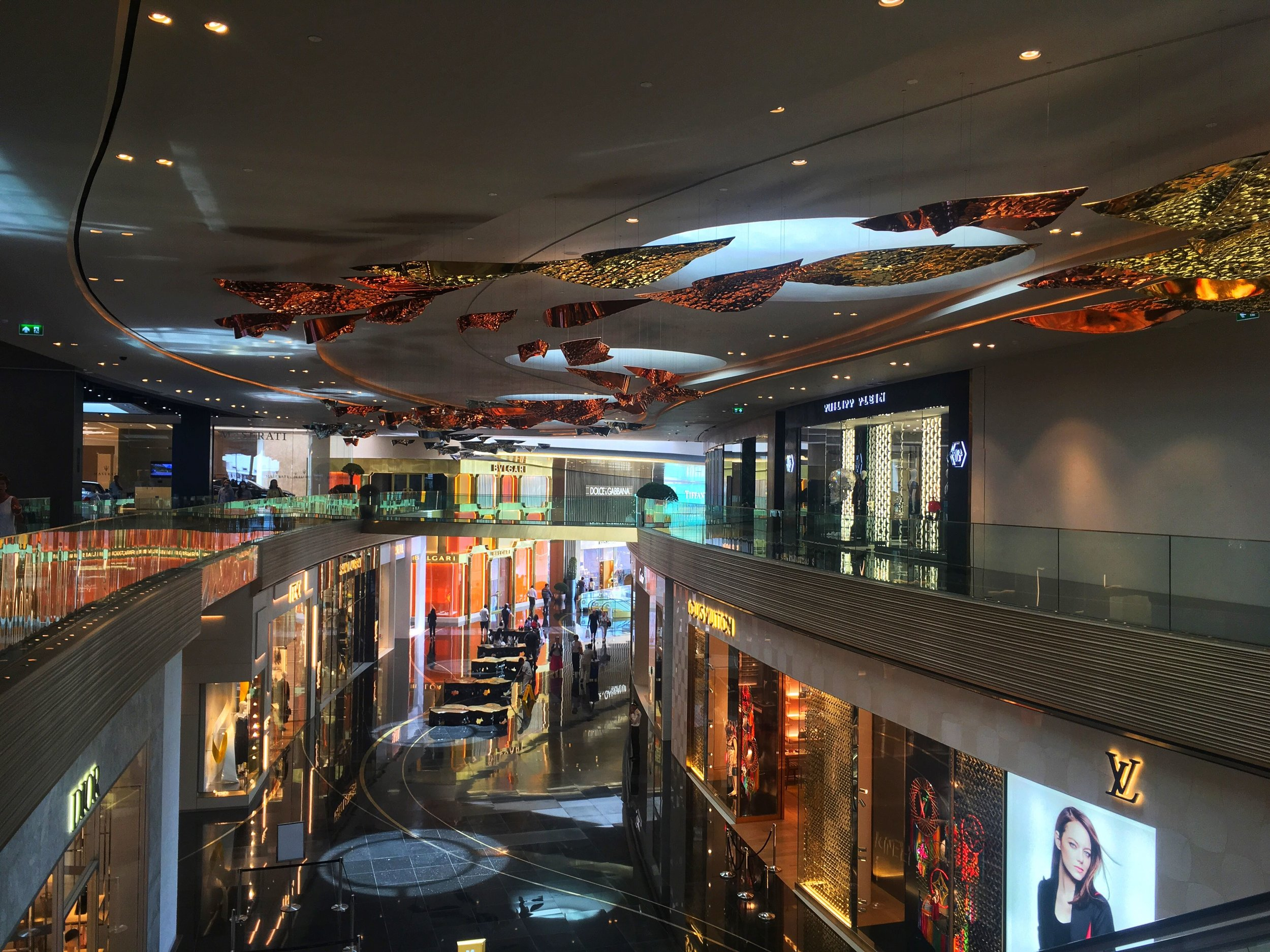 shops inside IconSiam shopping mall, Bangkok, Thailand