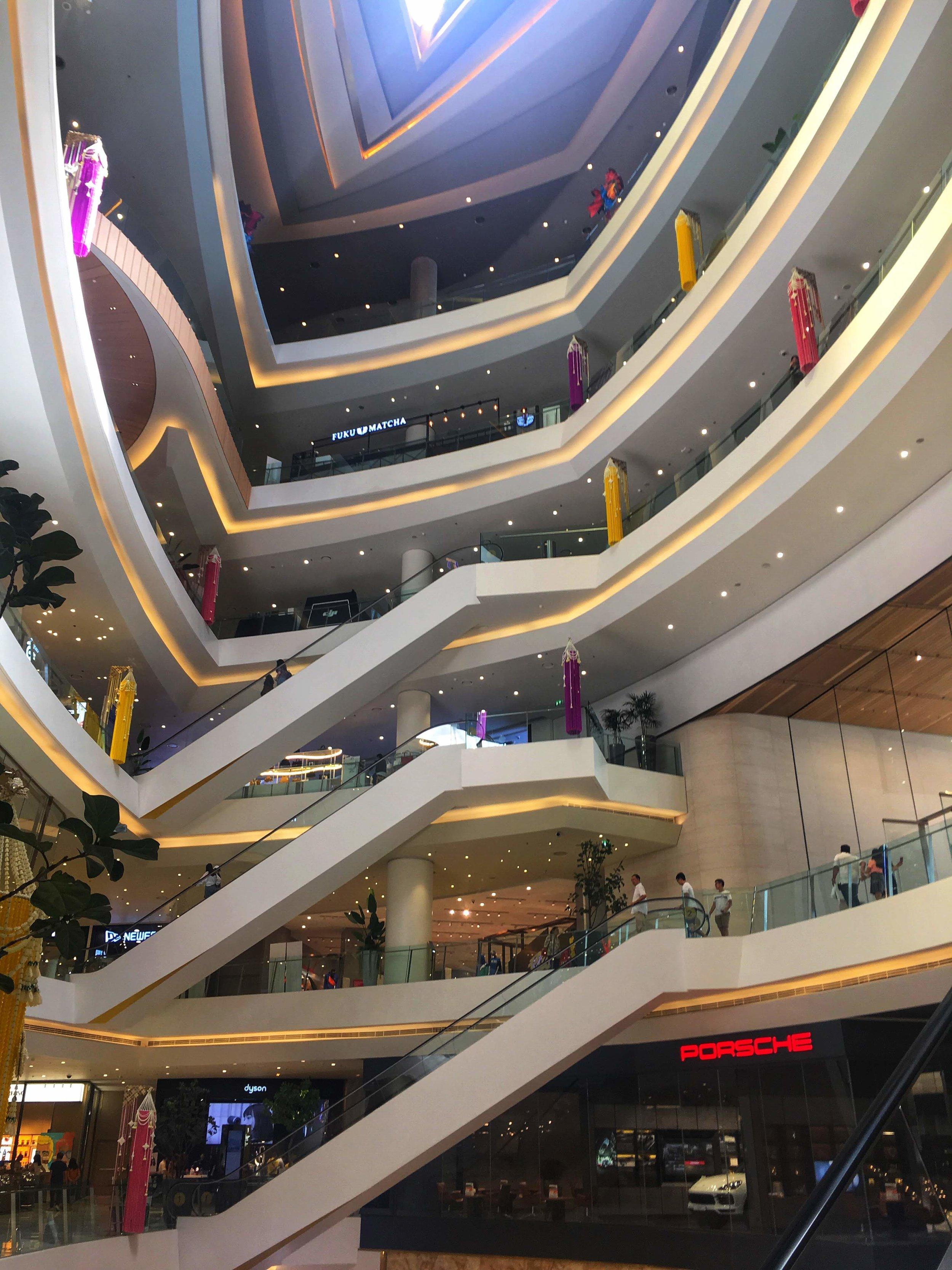 multi-story IconSiam shopping mall