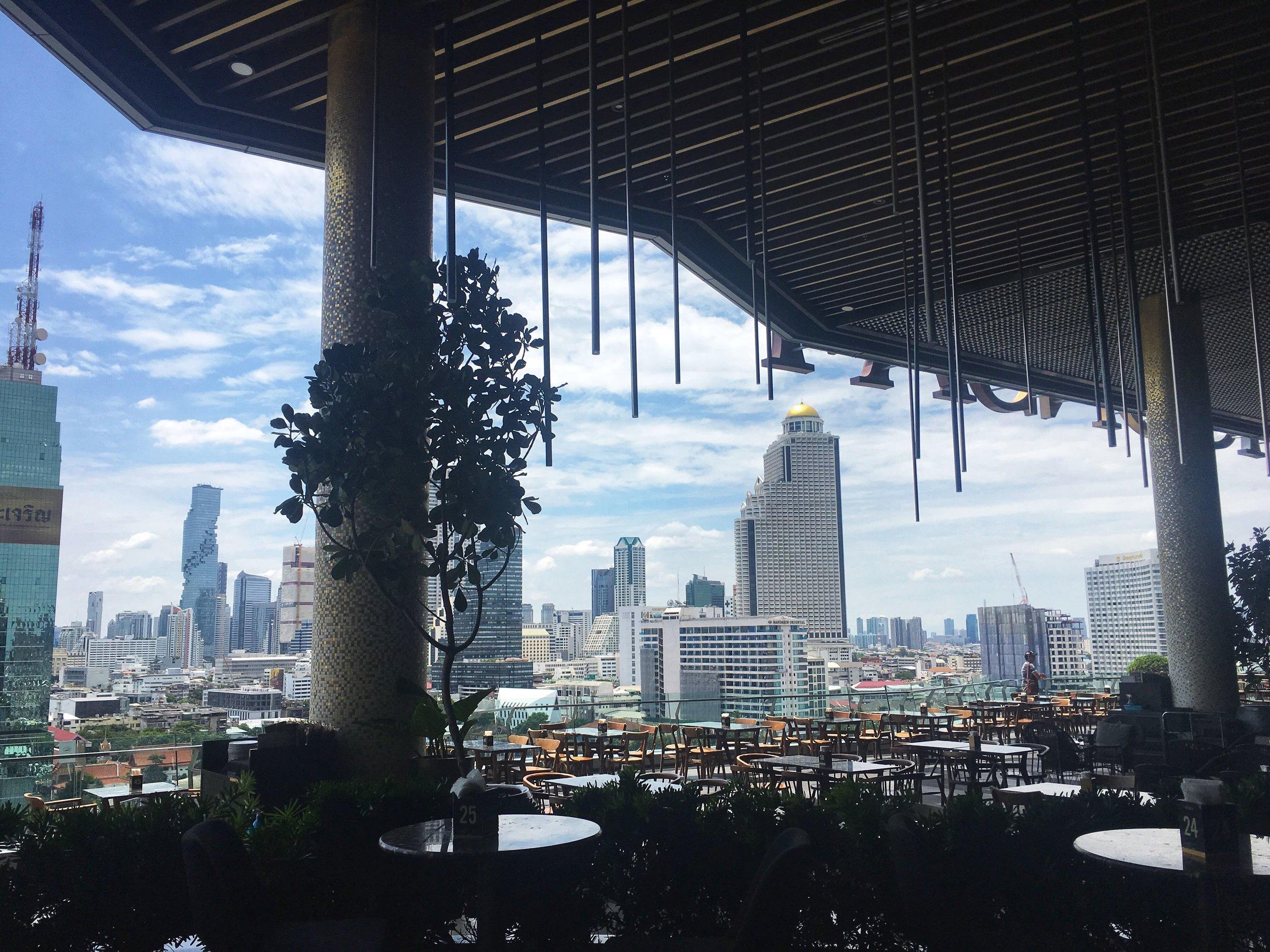 balcony overlooking the river, IconSiam mall, Bangkok
