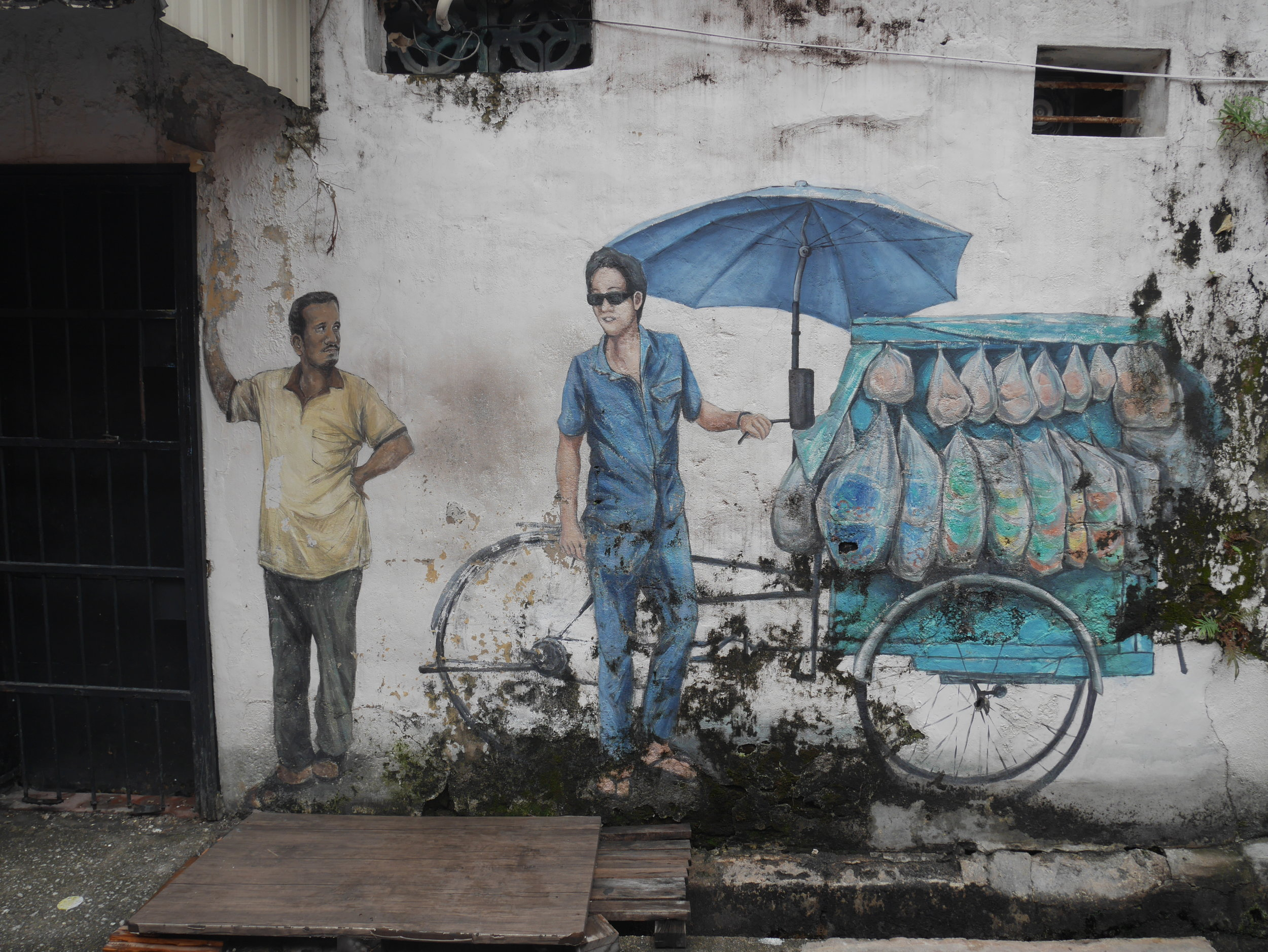 some of Penang's best street art can be found on and around Armenian Street in the old town