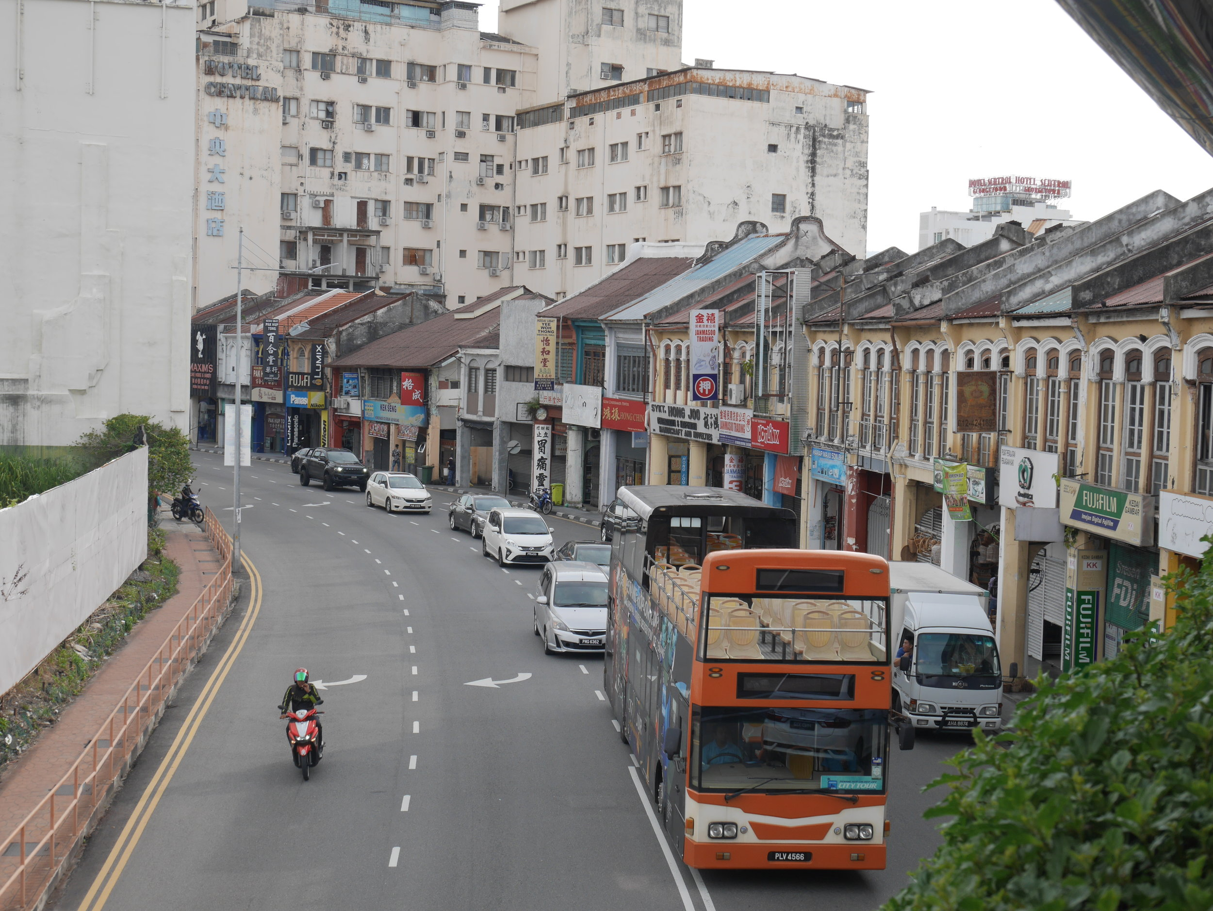 you can get around Penang Island on the hop-on-hop-off bus