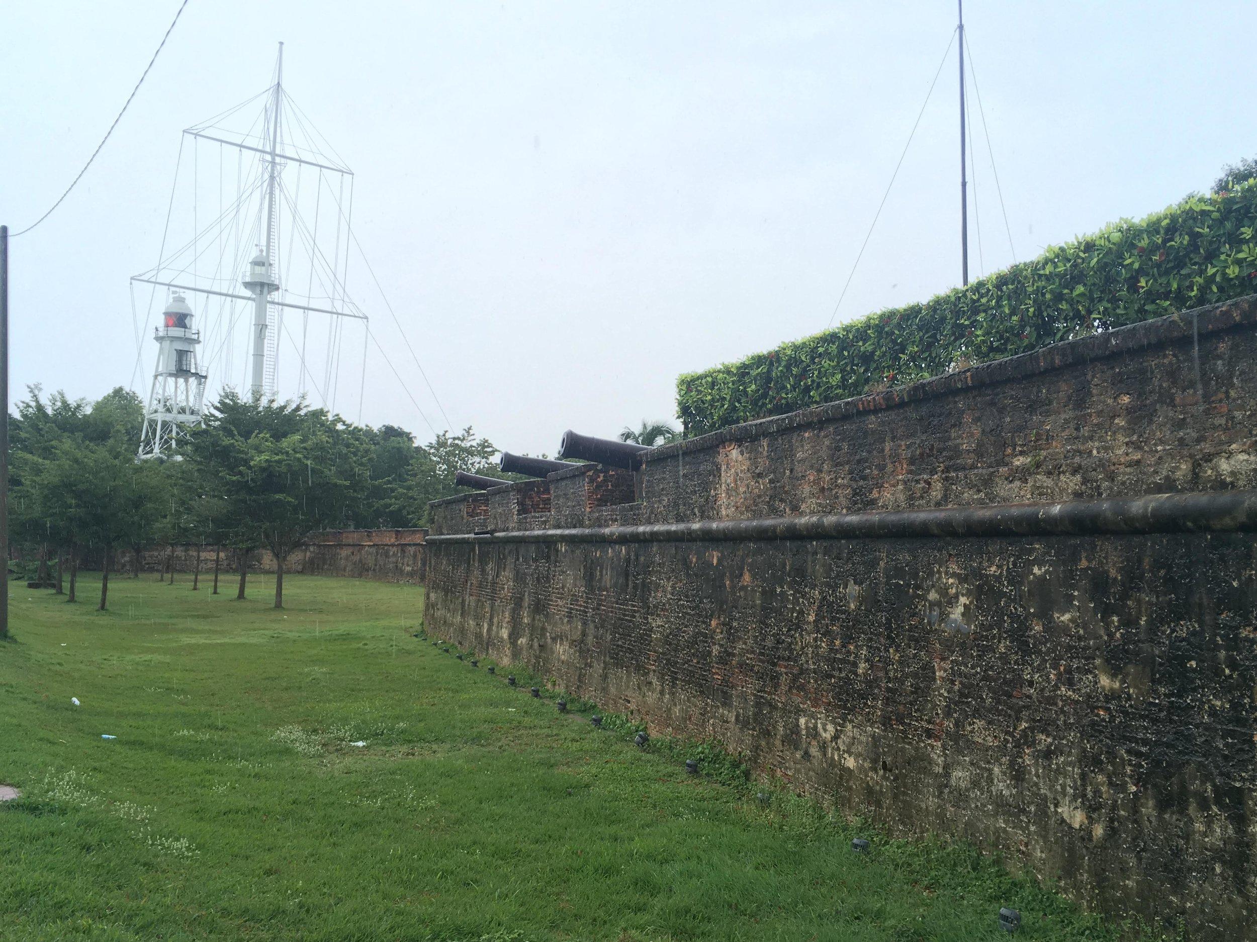 cannons at Fort Cornwallis, Penang, Malaysia