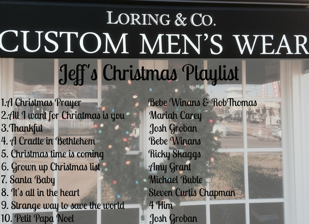 custom suit Christmas playlist