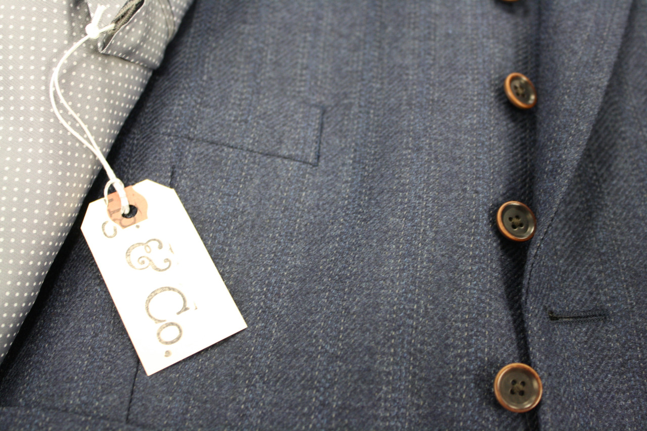 loring and co tag on virgin wool jacket