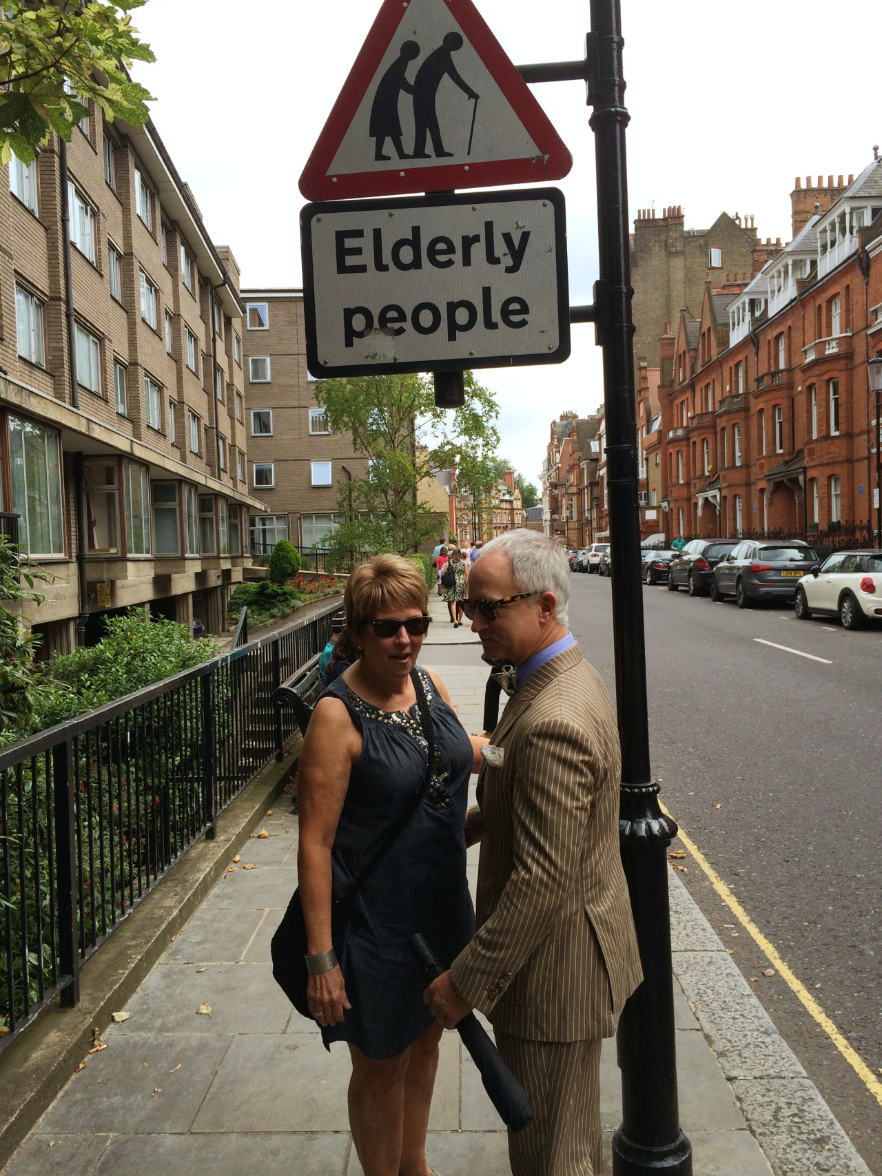 elderly people sign with Jeff Loring