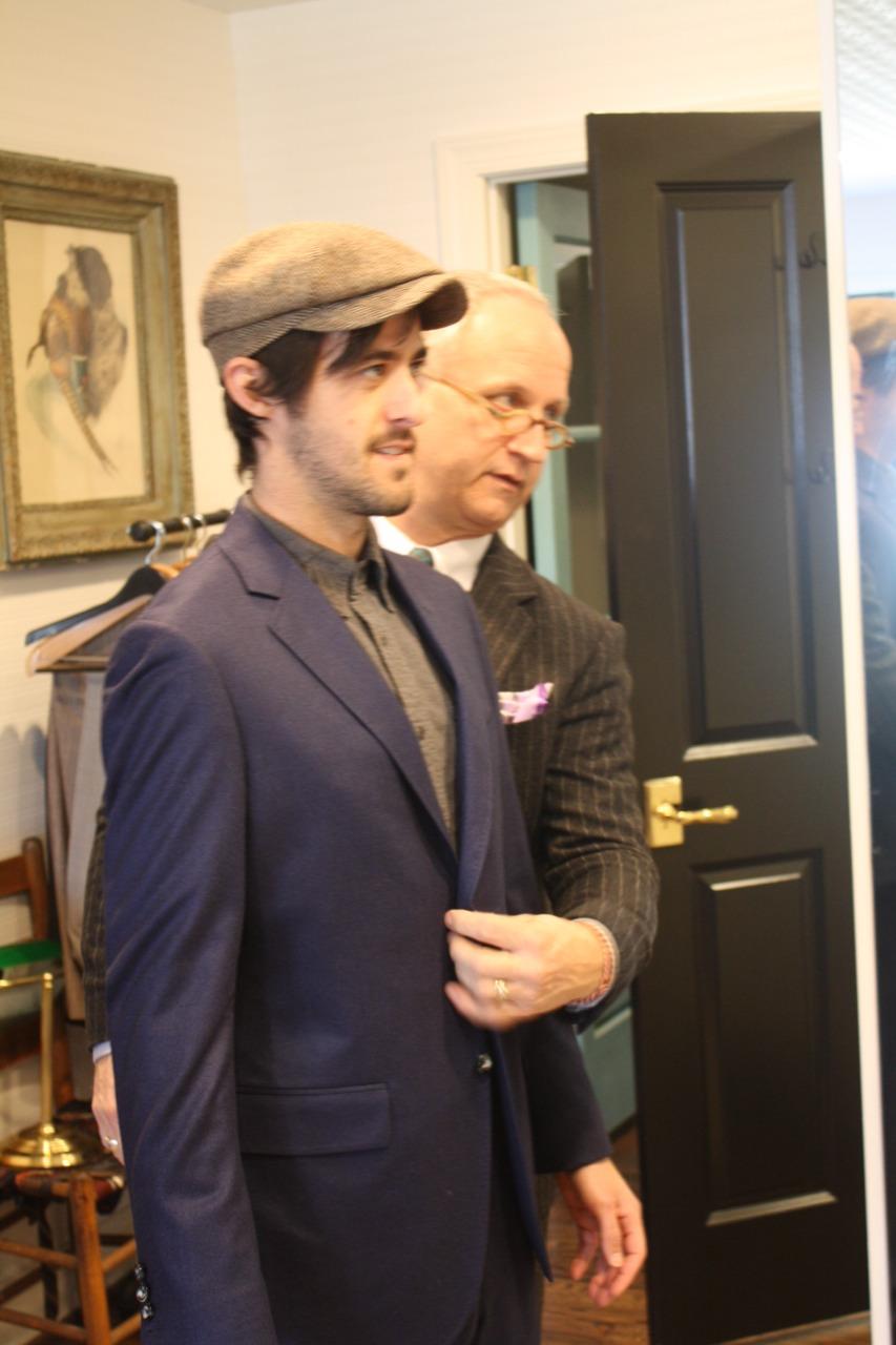 otis james bespoke suit fitting