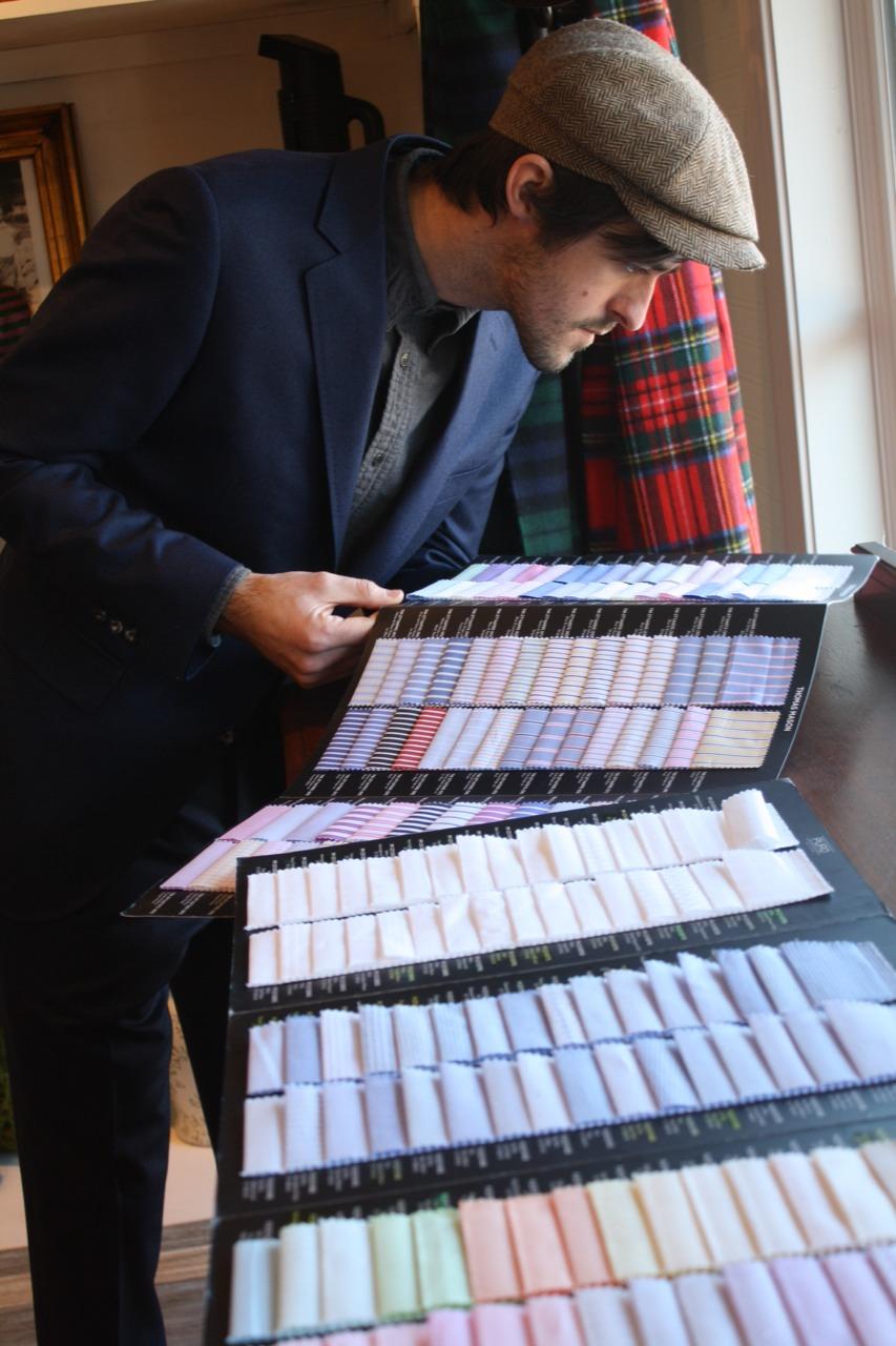 otis james custom suit swatches