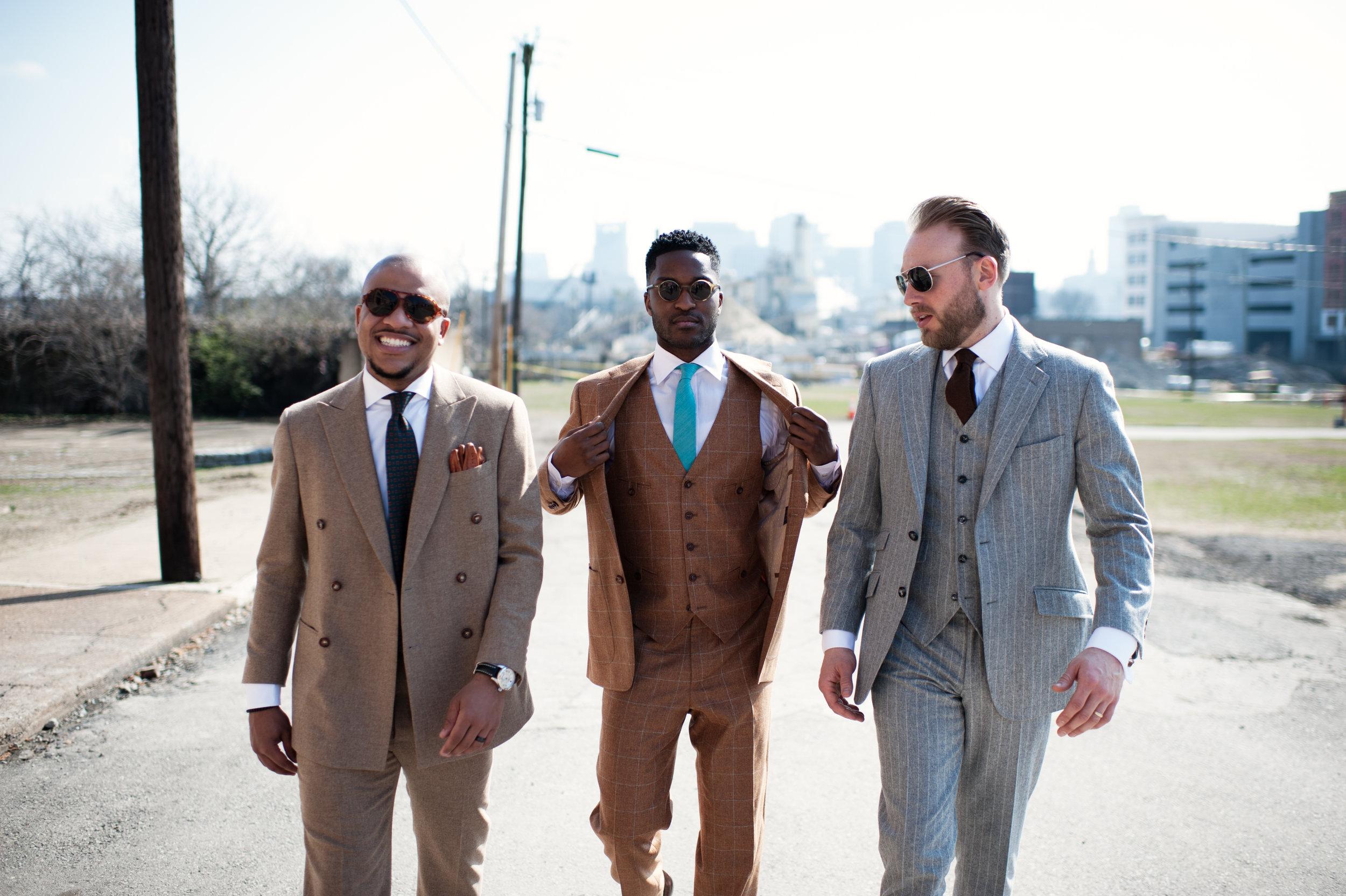 Nashville custom bespoke suit walk