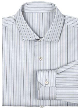 bespoke shirt in blue stripes