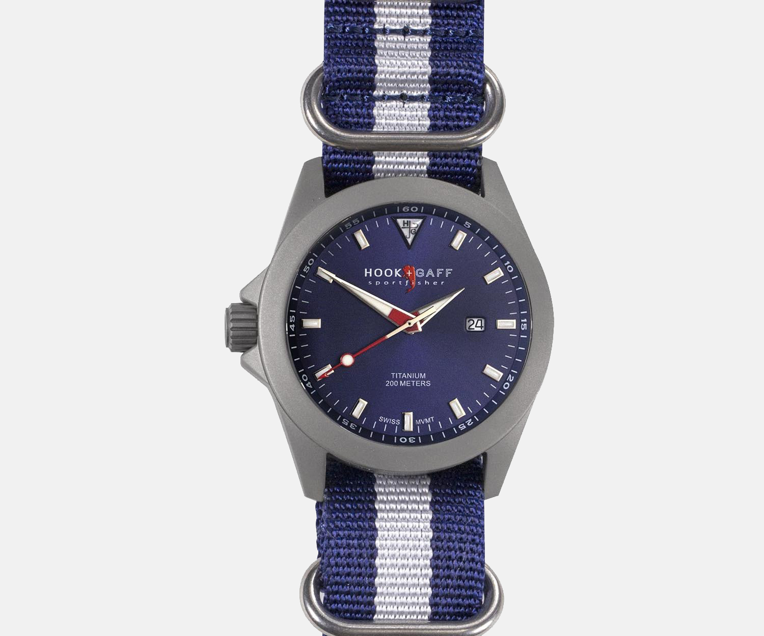 HOOK AND GAFF SPORTFISHER II CLASSIC BLUE DIAL