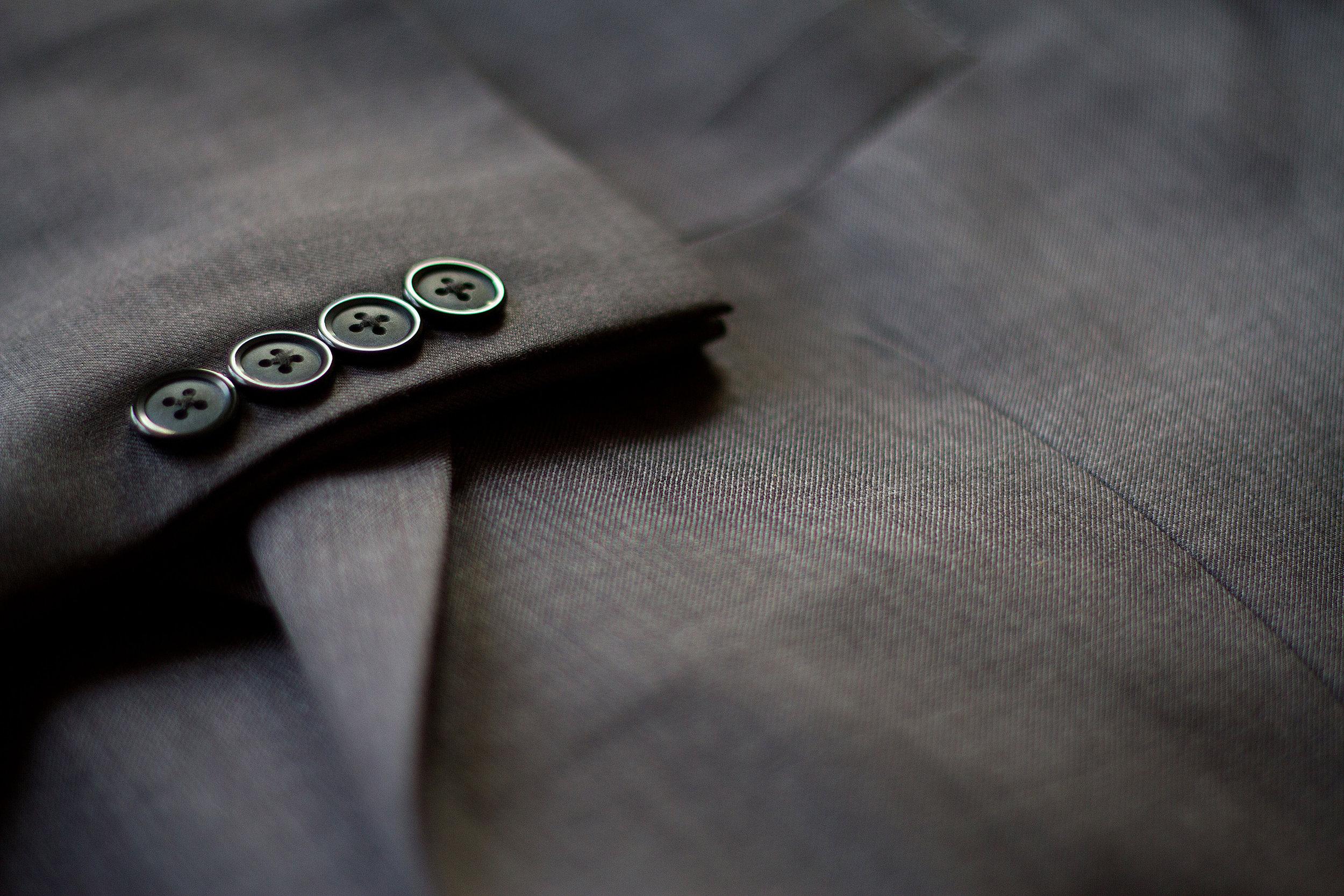 gray cotton custom suit