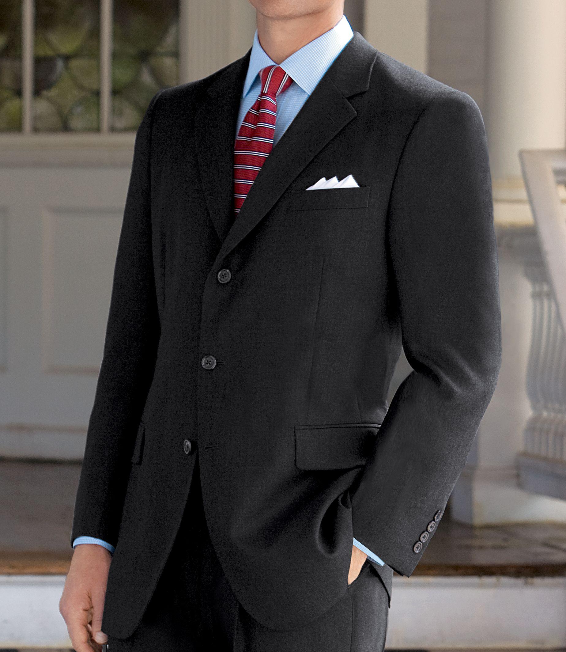 black cashmere custom suit