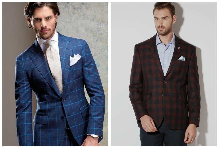 checkered suits showing current trend