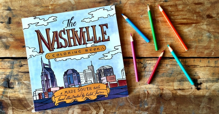 nashville coloring book perfect christmas gift for kids or adults