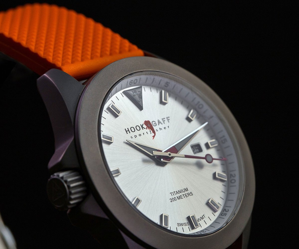 Classic modern watch with silver case and white dial