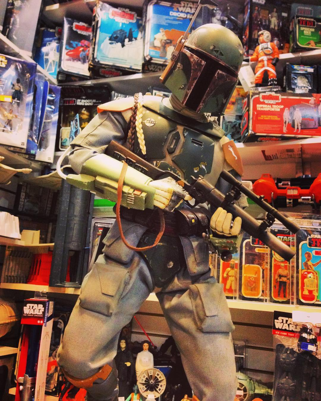 This Sideshow Collectibles Premium Format Boba Fett stands tall among in our massive Star Wars section