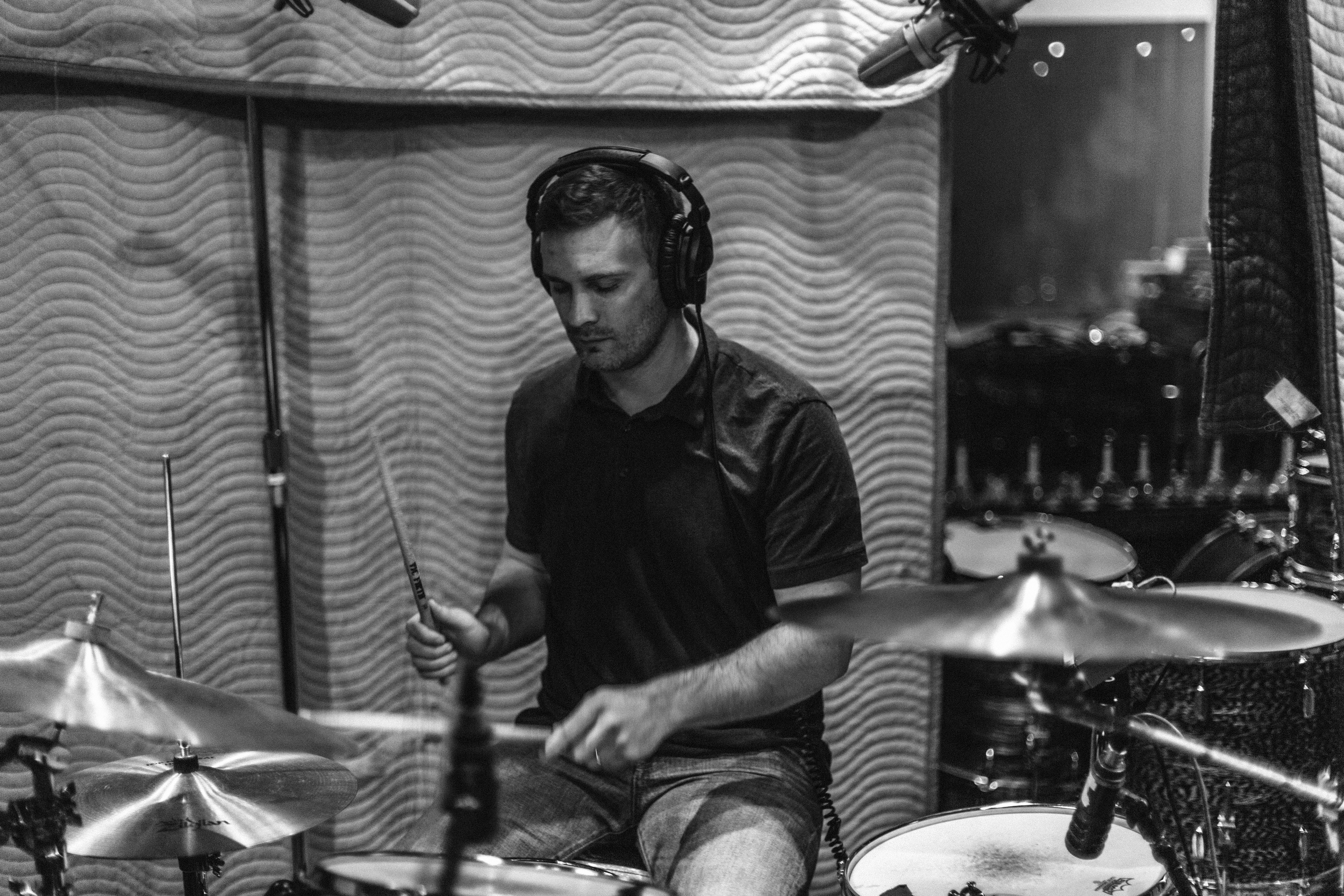 AARON ANDERSEN | DRUMs  We're very lucky to have Aaron, too. He drums for Fictionist, Utah's most talented young rock band. Aaron's jazz-rock style complements the piano-led songs on the album excellently.