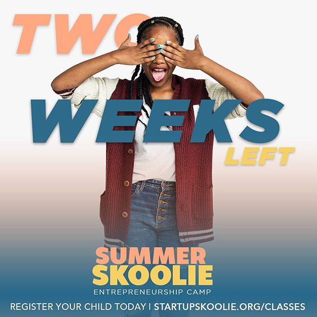 Two weeks left until the start of Summer Skoolie! Registration ends on May 31st! Don't miss this amazing experience for your child to learn entrepreneurship this summer. Sign-up today at startupskoolie.org/classes! (Link in bio)
