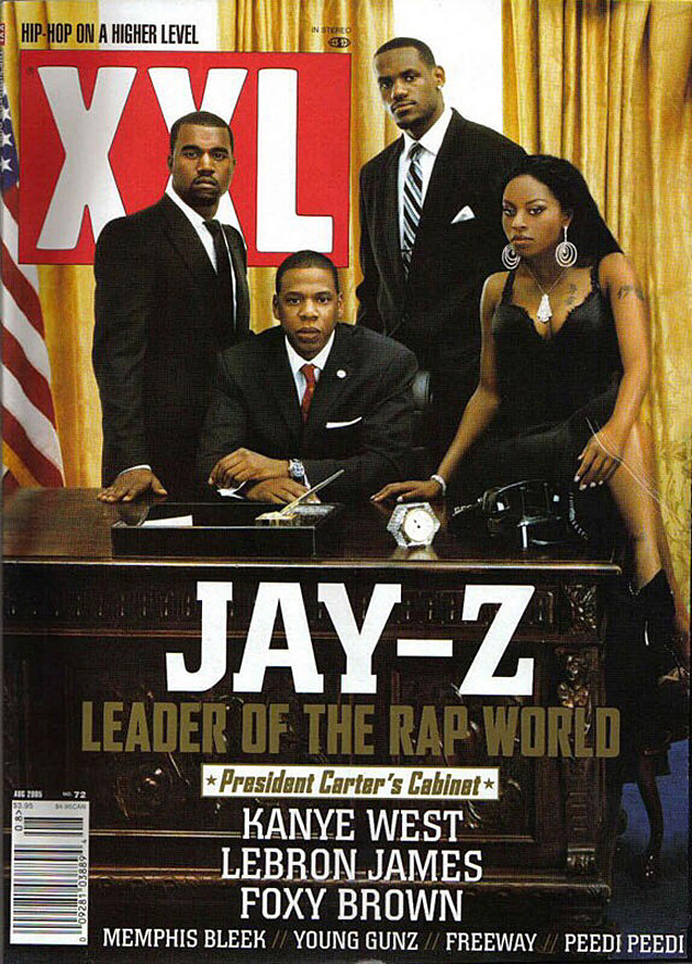 The legendary 'XXL' Jay-Z, LeBron James, Kanye West and Foxy Brown cover - ESPN's The Undefeated, January 2018