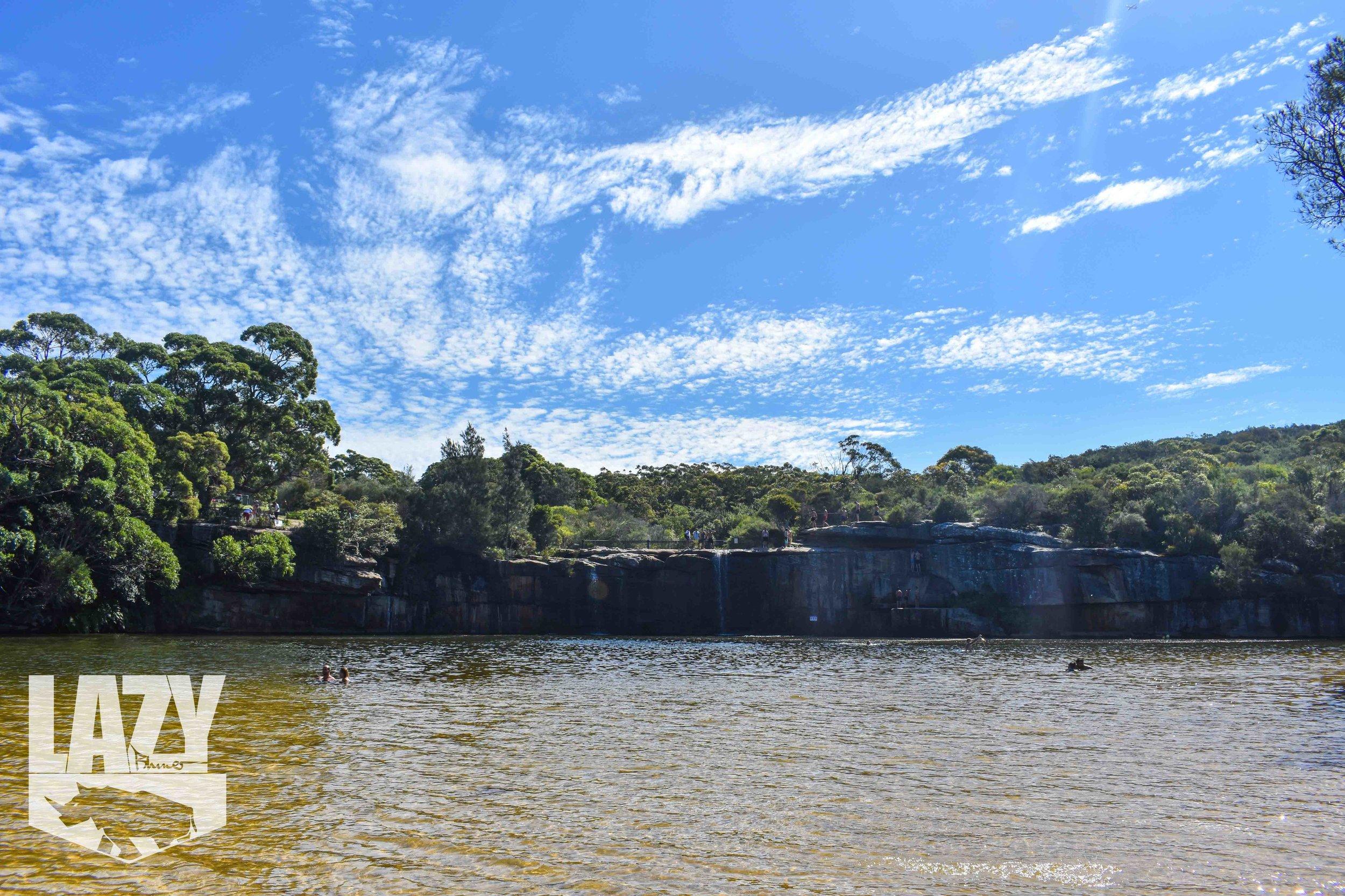 Wattamolla Beach Waterfalls