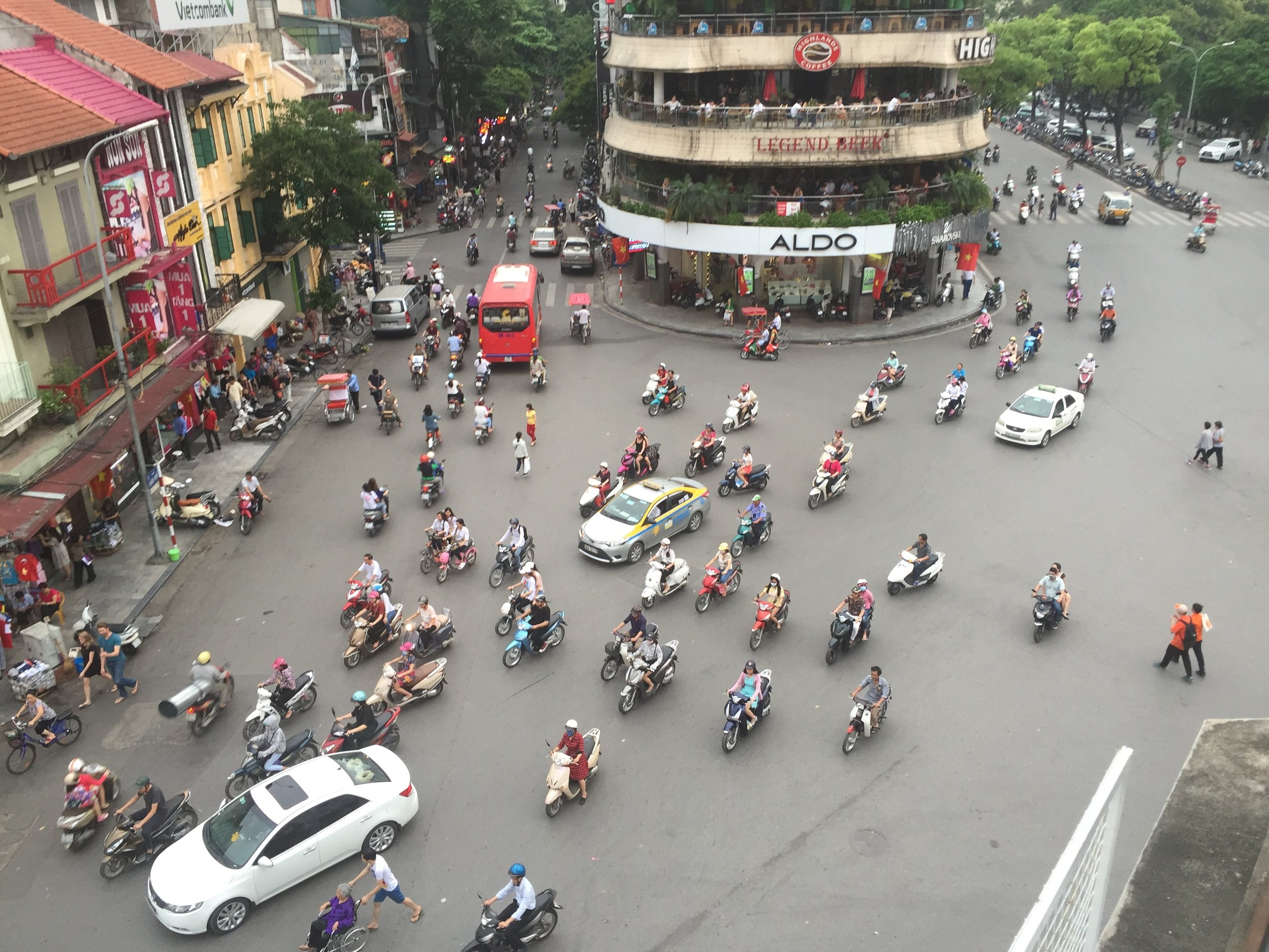 Hanoi intersection across from City View Cafe