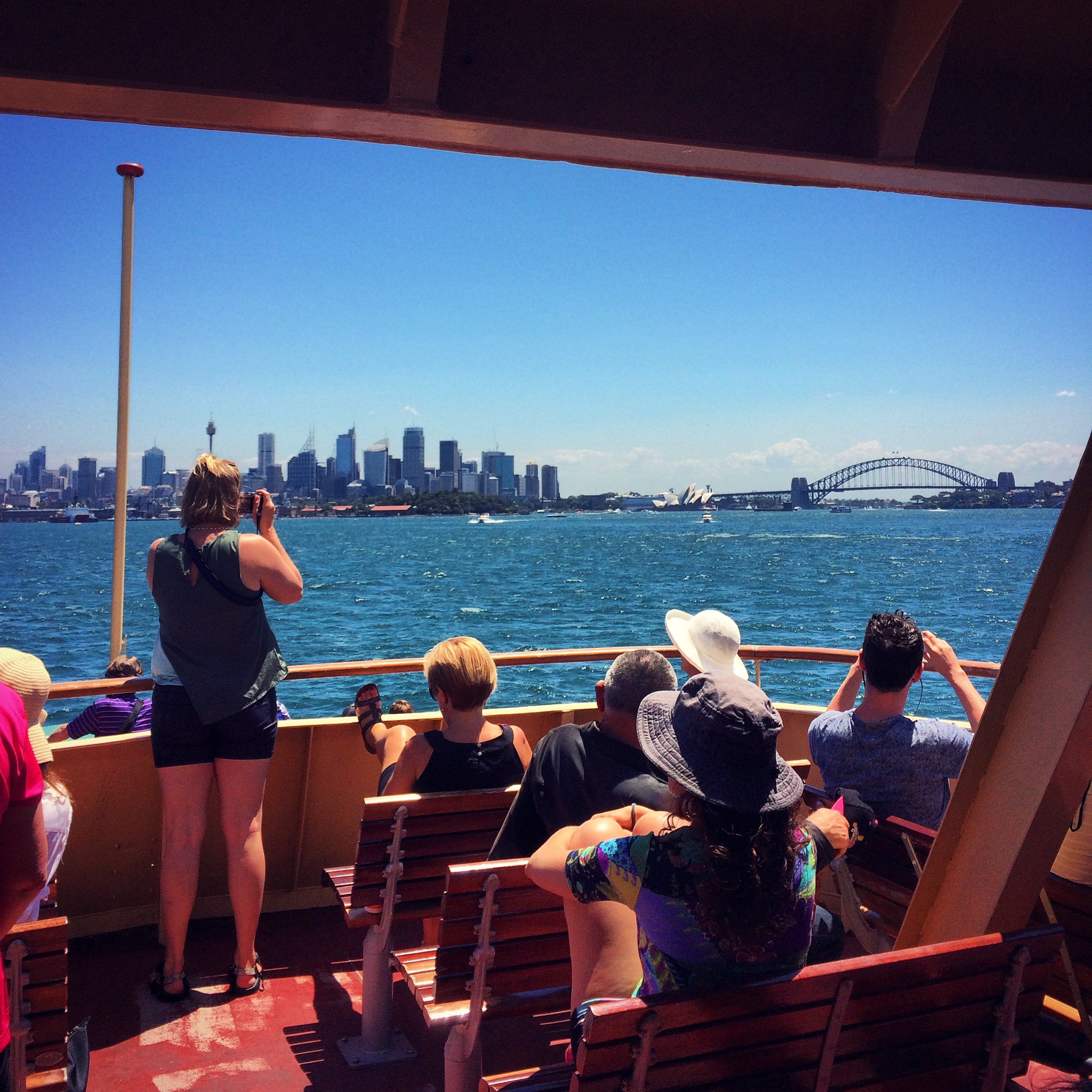 Tourists on the Ferry | Sydney Harbour