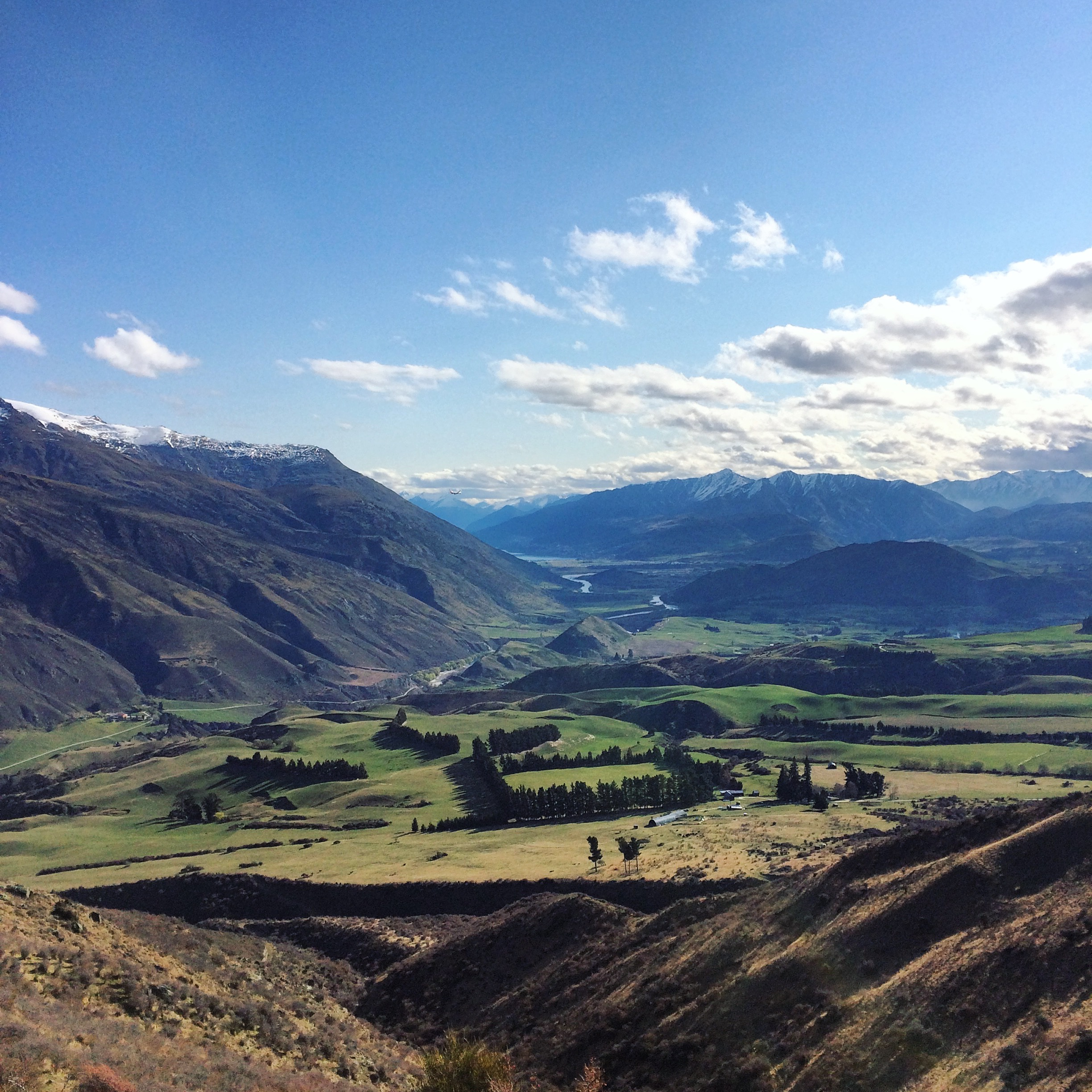 Coming Down Into Queenstown on the Crown Rd
