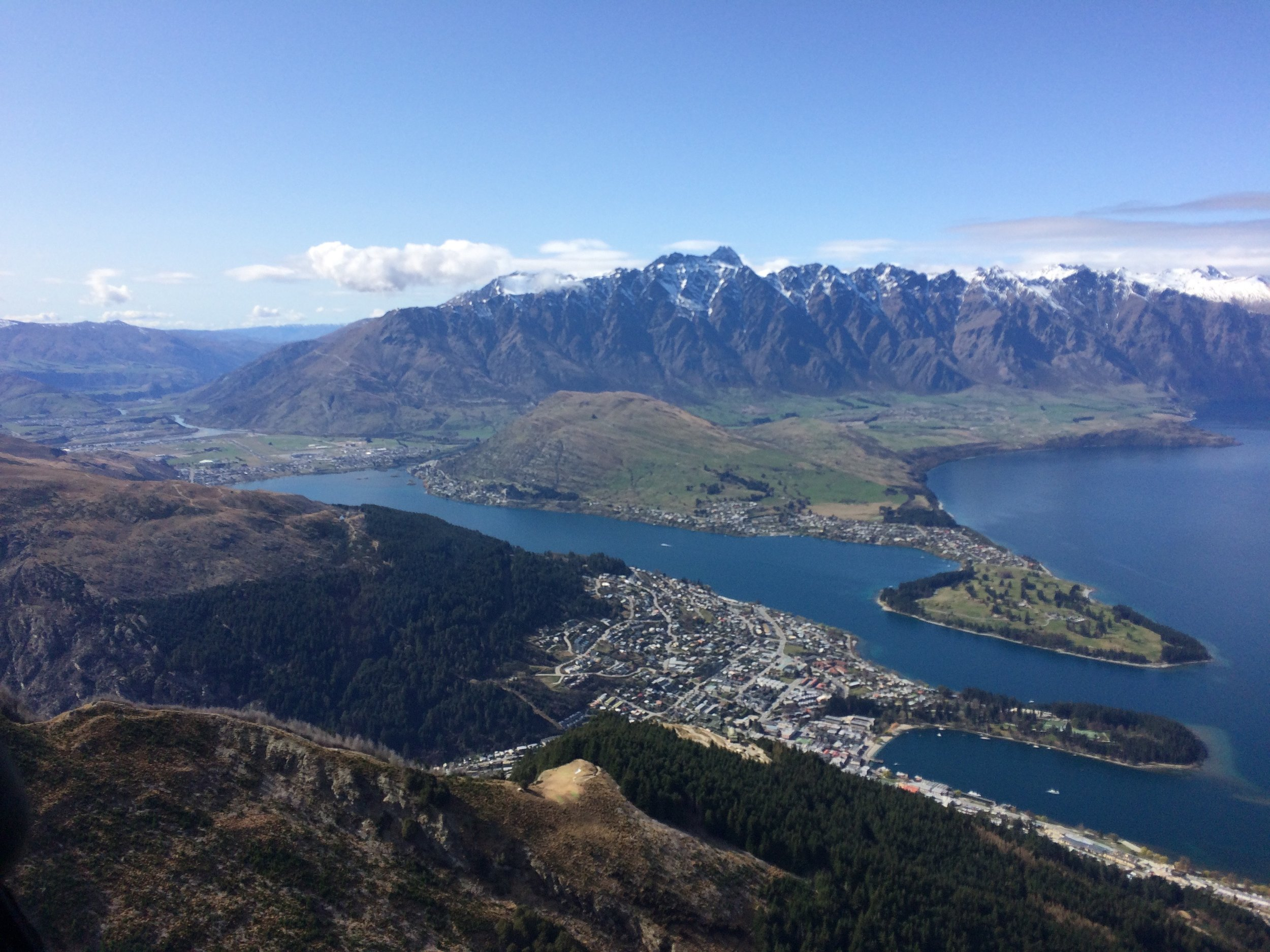 Queenstown From Atop the Gondola