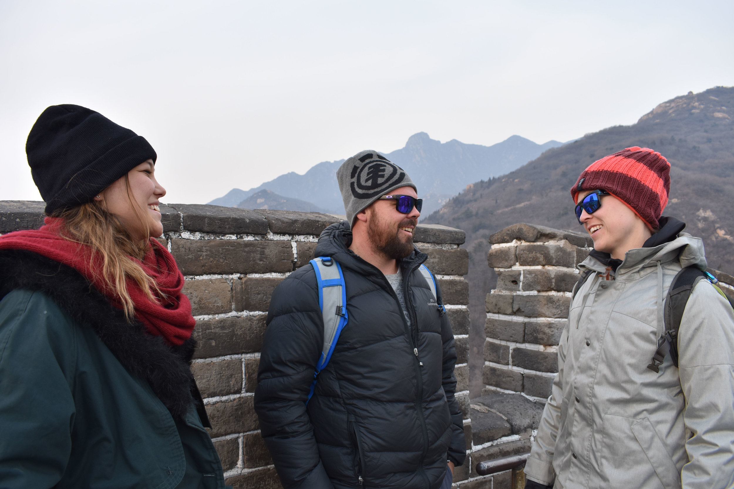 The Lazy Rhino Crew on The Great Wall of China