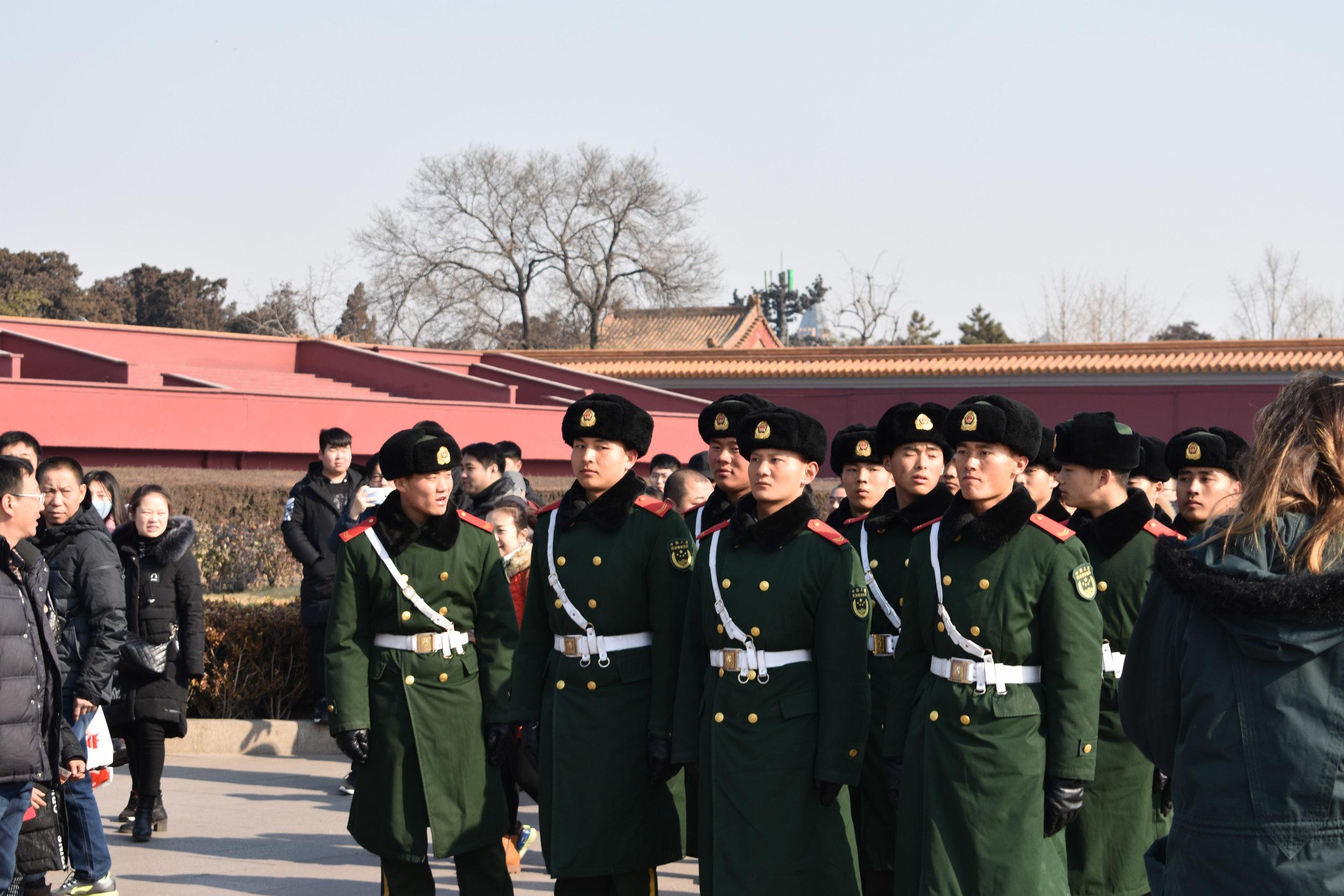 Guards in Tiananmen Square