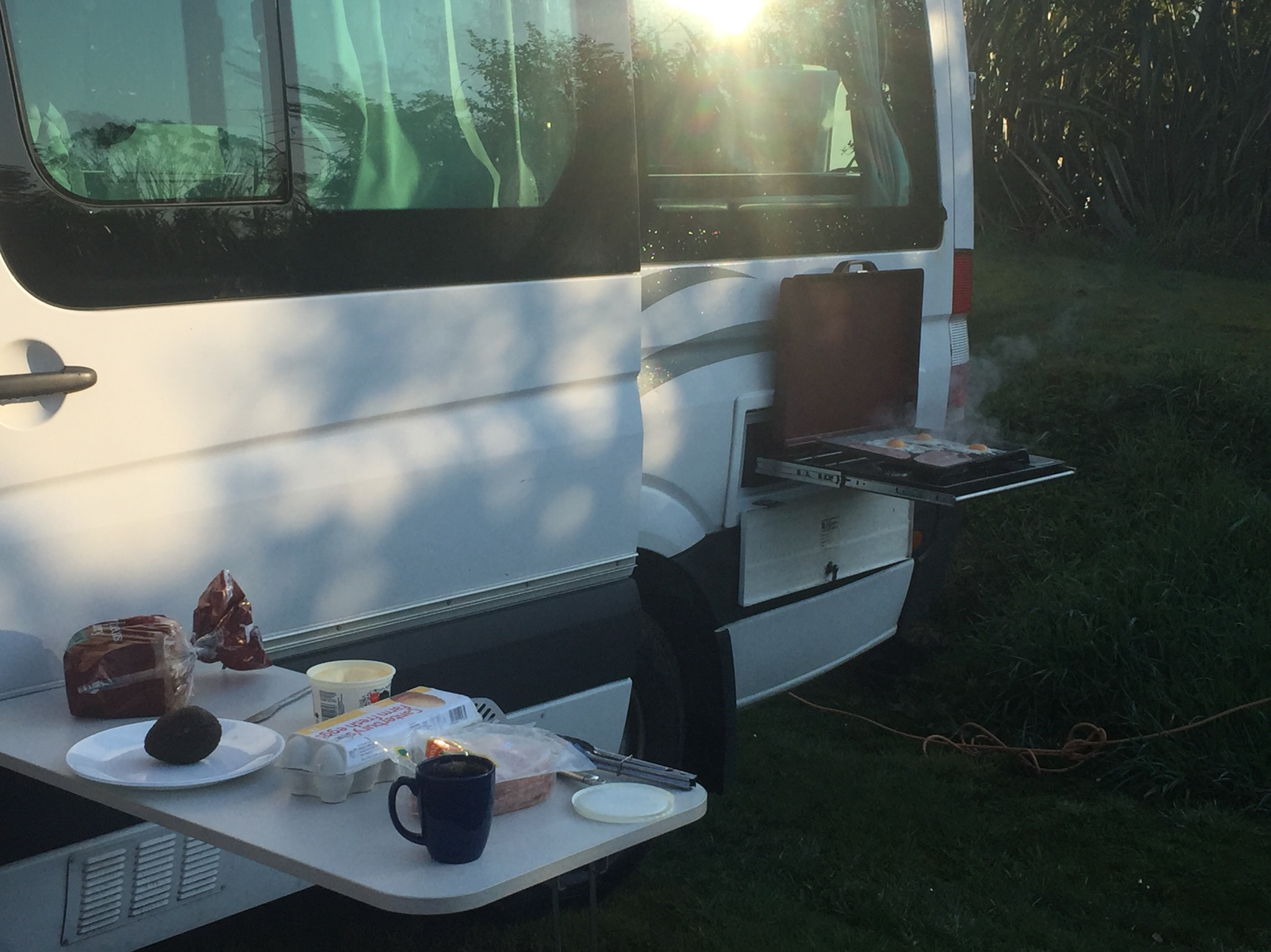 Doesn't hurt to have a nice outdoor kitchen while camping.