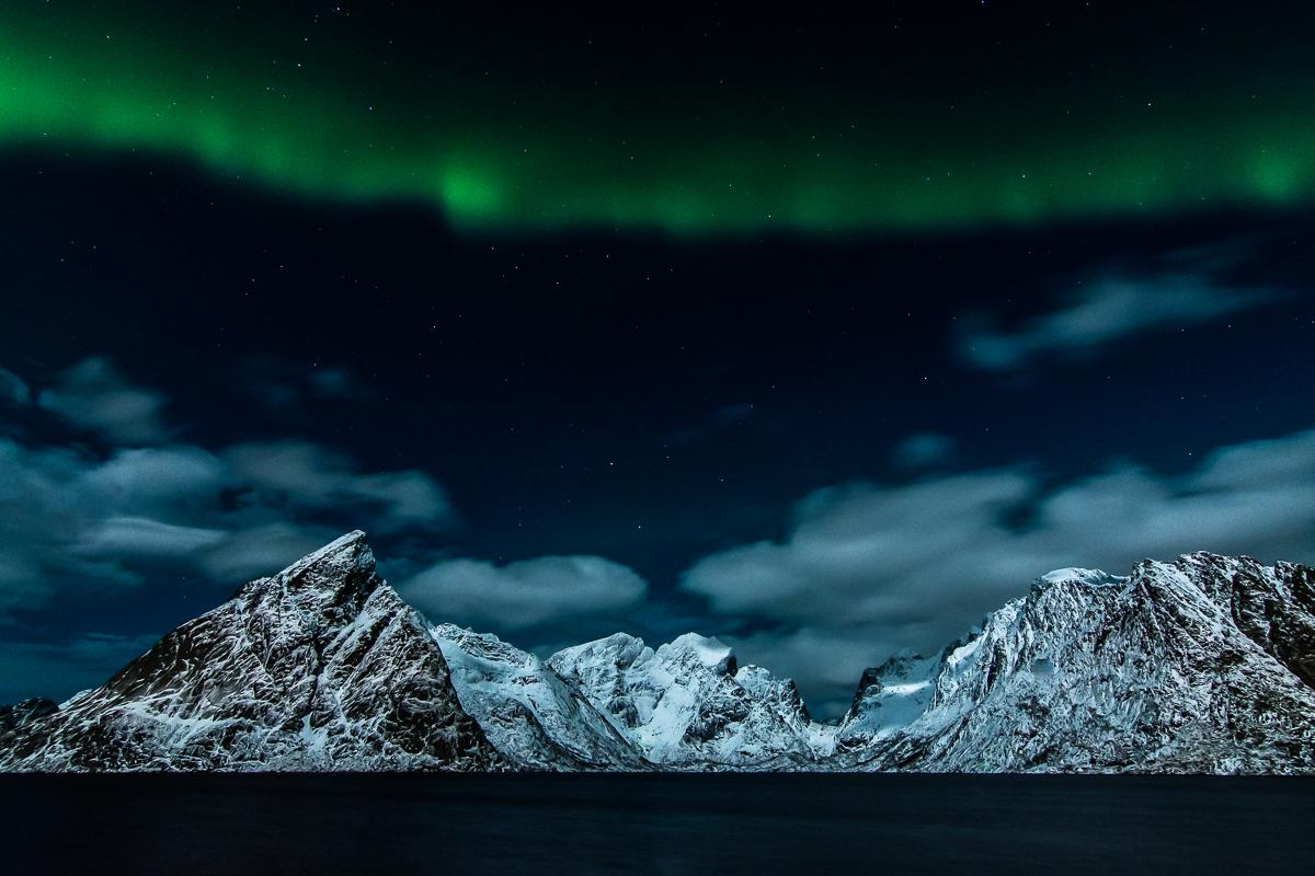 Nordlys over Reine. ©Bjørn Joachimsen.