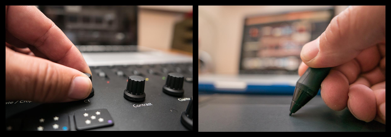 Loupedeck kombinert med Wacom Intuos Pro tegnebrett gir stor fleksibilitet og hurtighet ved justering av RAW-filer med Lightroom.