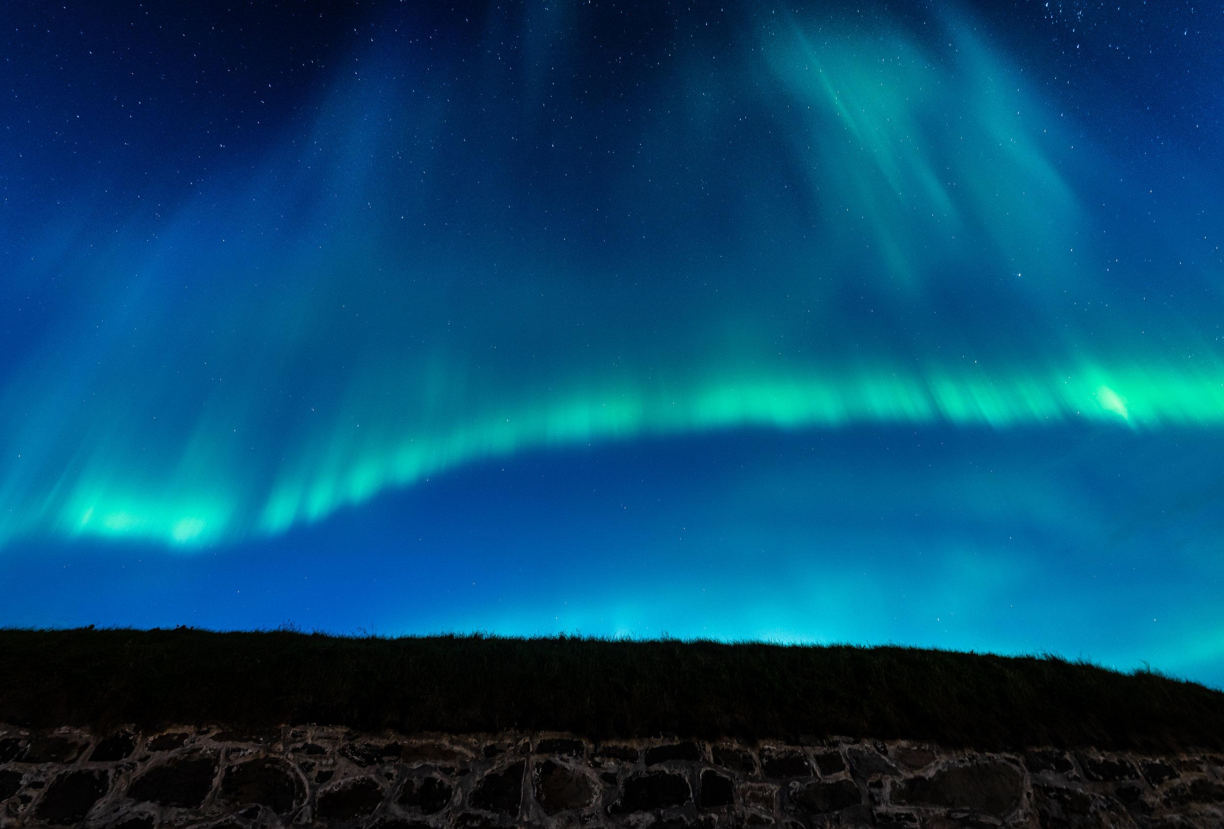 Allerede i slutten av august kan du oppleve nordlyset i Vardø. Dette bildet ble tatt 30. august 2019. ©Bjørn Joachimsen.