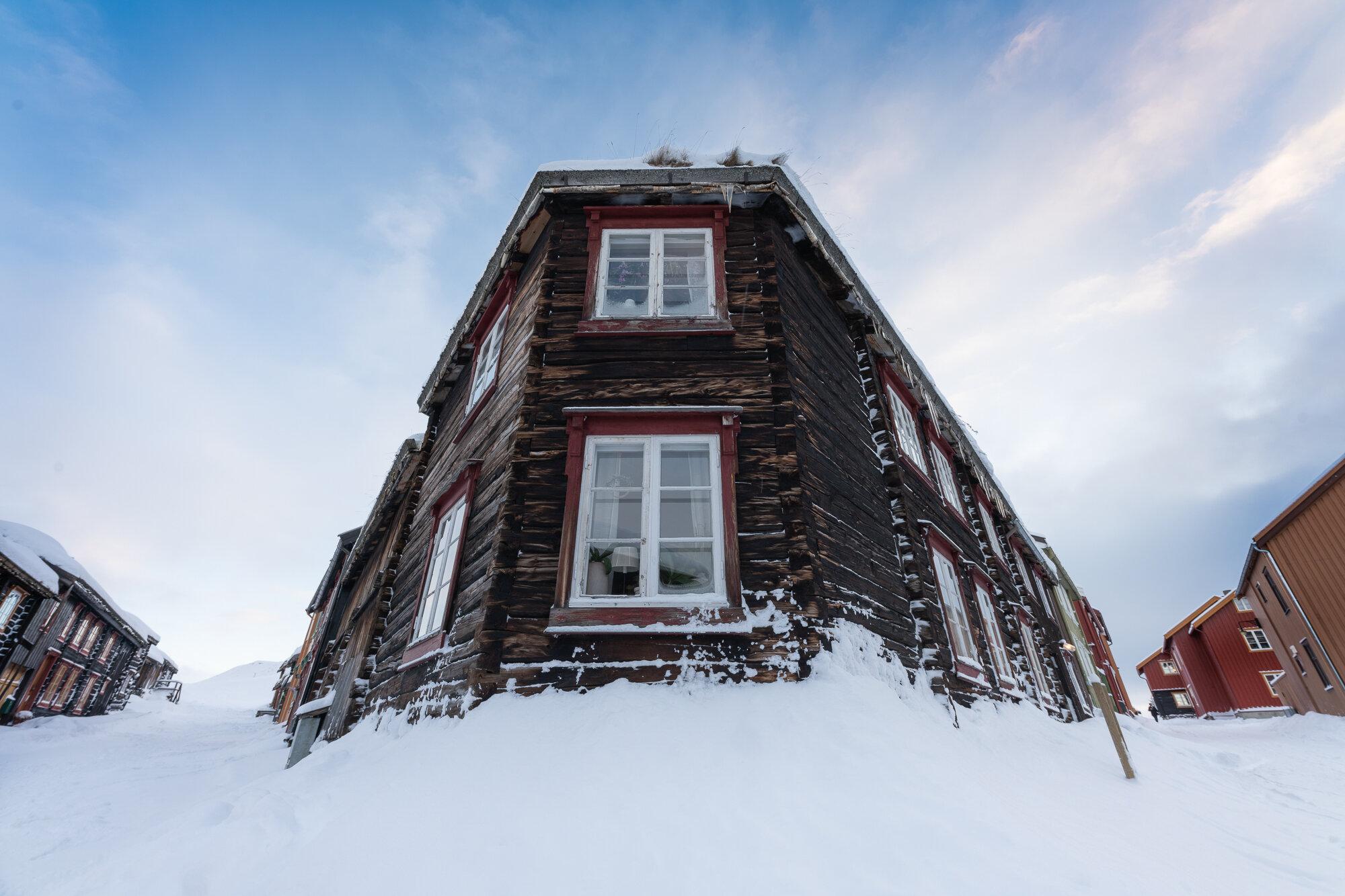 Vinter i Bergstaden på Røros. ©Bjørn Joachimsen.