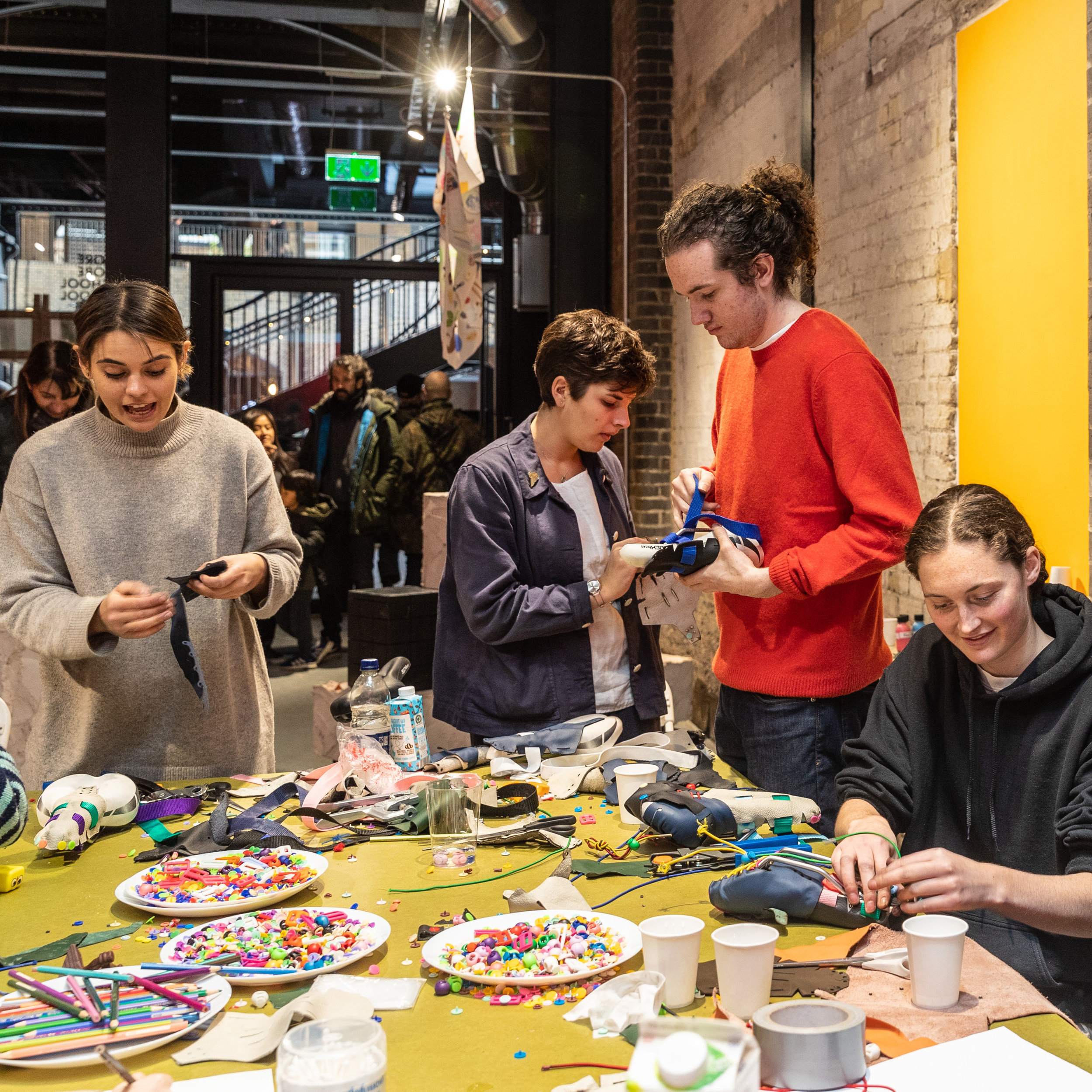 STORE Store making a saddle cover workshop, Coal Drops Yard, King's Cross