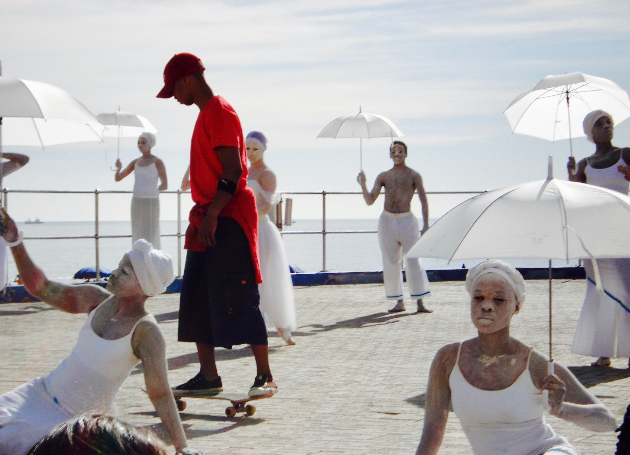 A performance on the Sea Point Promenade in Cape Town in 2013
