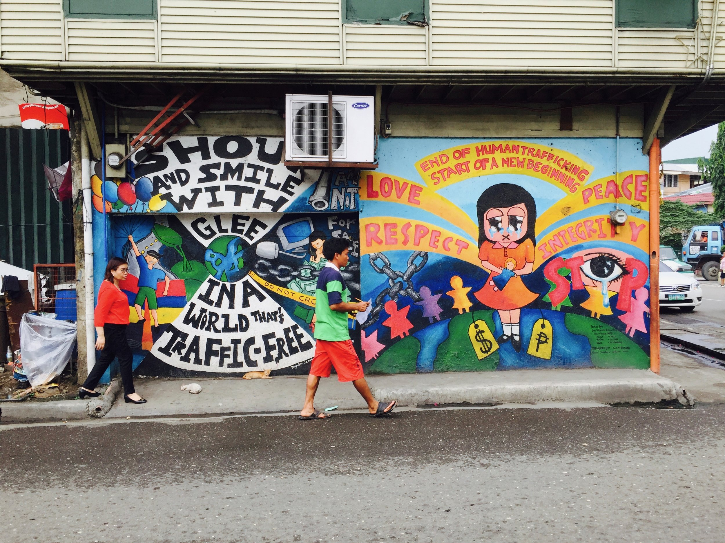 murals by young people in the streets of Cebu
