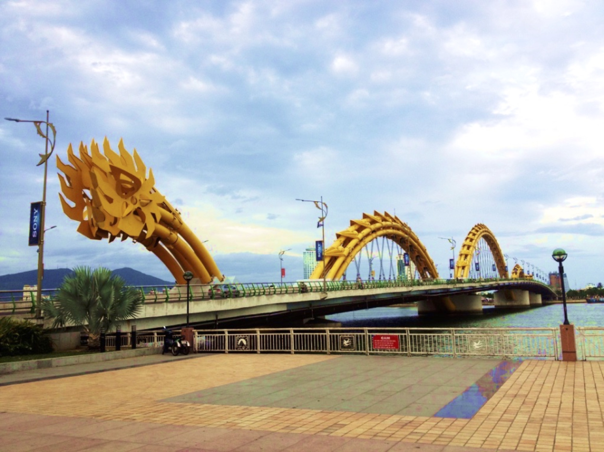 Dragon Bridge in the city of  DaNang, Vietnam