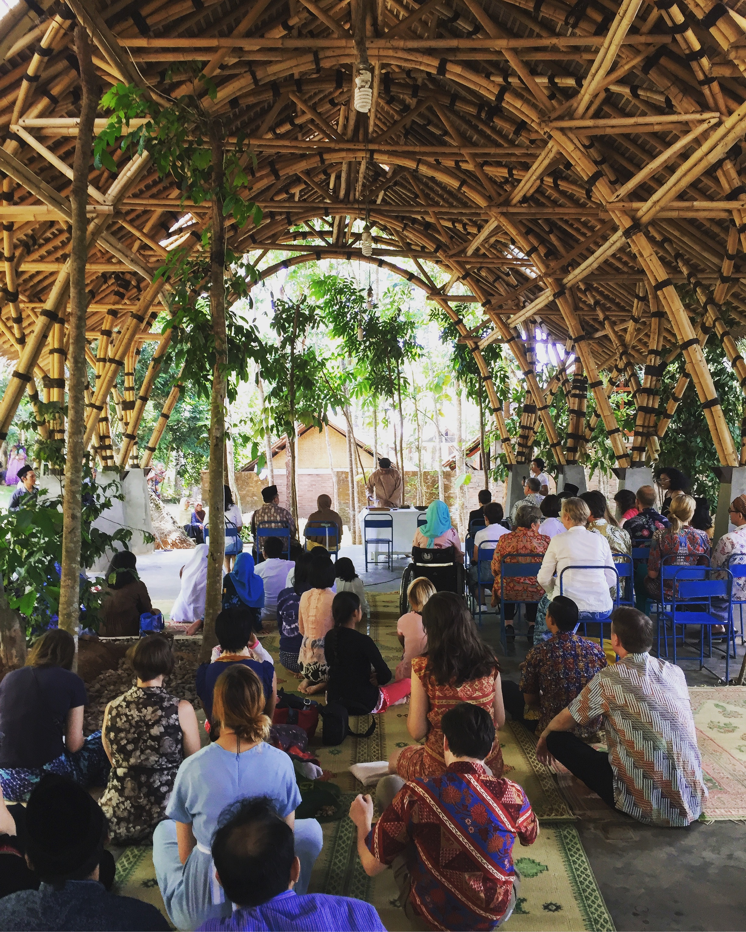 Innovative bamboo structure at the Bumi Pemuda Rahayu initiative outside Yogjakarta