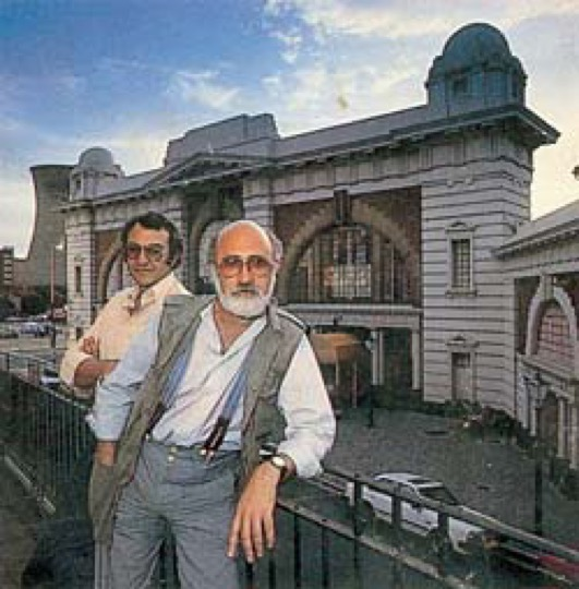 Mannie Manim and Barney Simon, founders of the Market Theatre. Photo by Gisele Wulfsohn