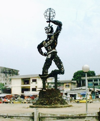 The New Liberty: A public sculpture in Douala, Cameroon