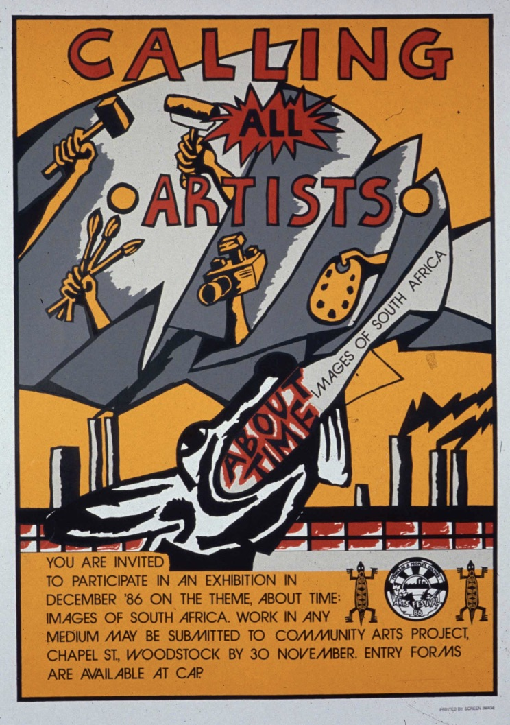 a poster designed by Gaby Cheminais from CAP Media for a banned art exhibition