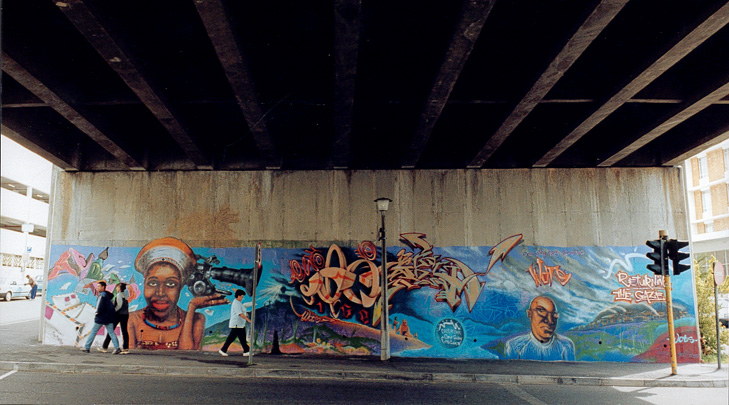 Sky 189 and Ice,  Return to Sender.  A mural for Returning the Gaze.