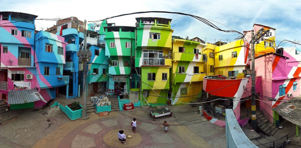 Favela Painting project in Rio De Janeiro, Brazil. Haas&Hahn